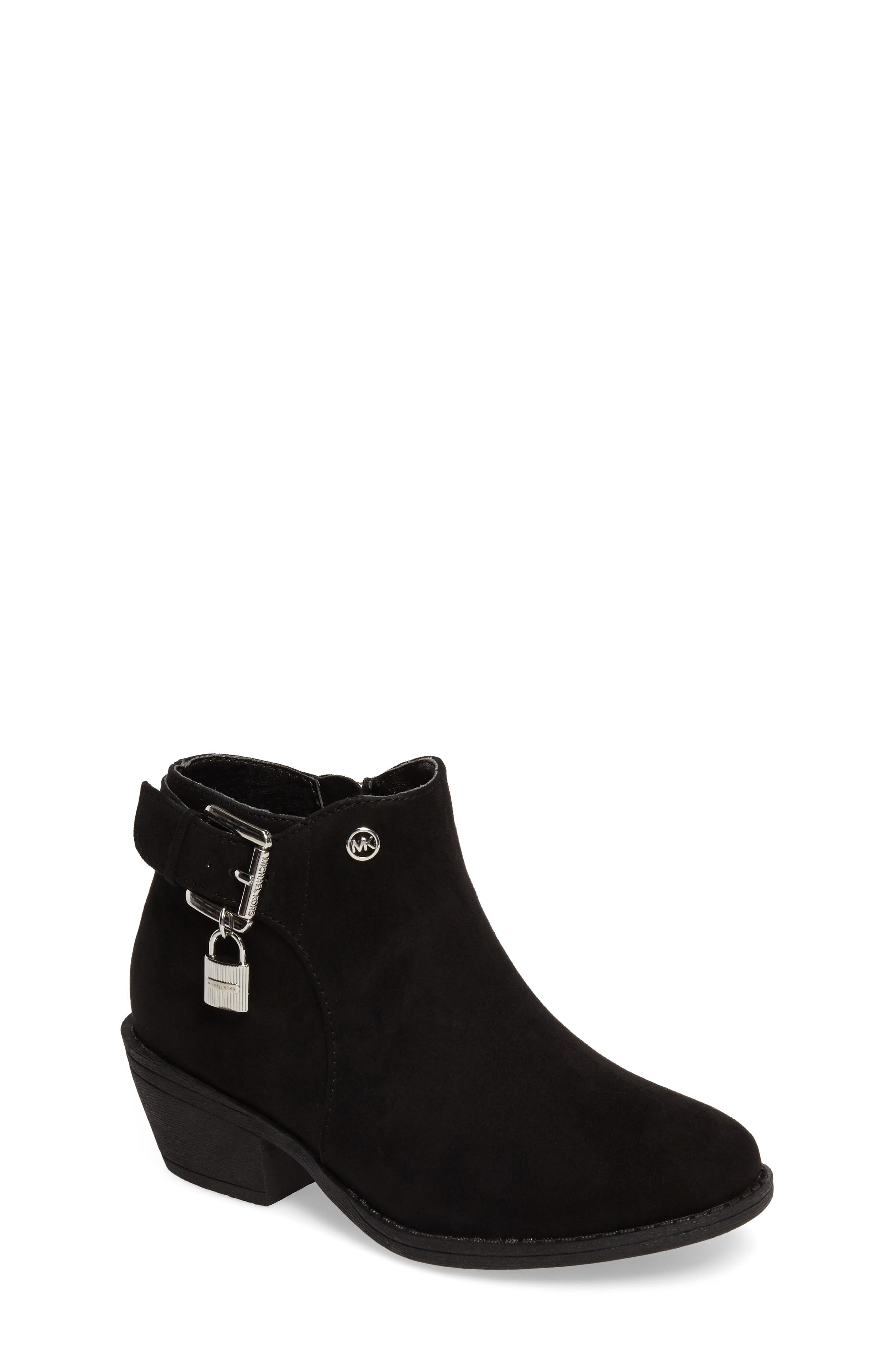 MICHAEL Michael Kors Fia Shine Buckle Strap Bootie (Toddler, Little Kid & Big Kid)