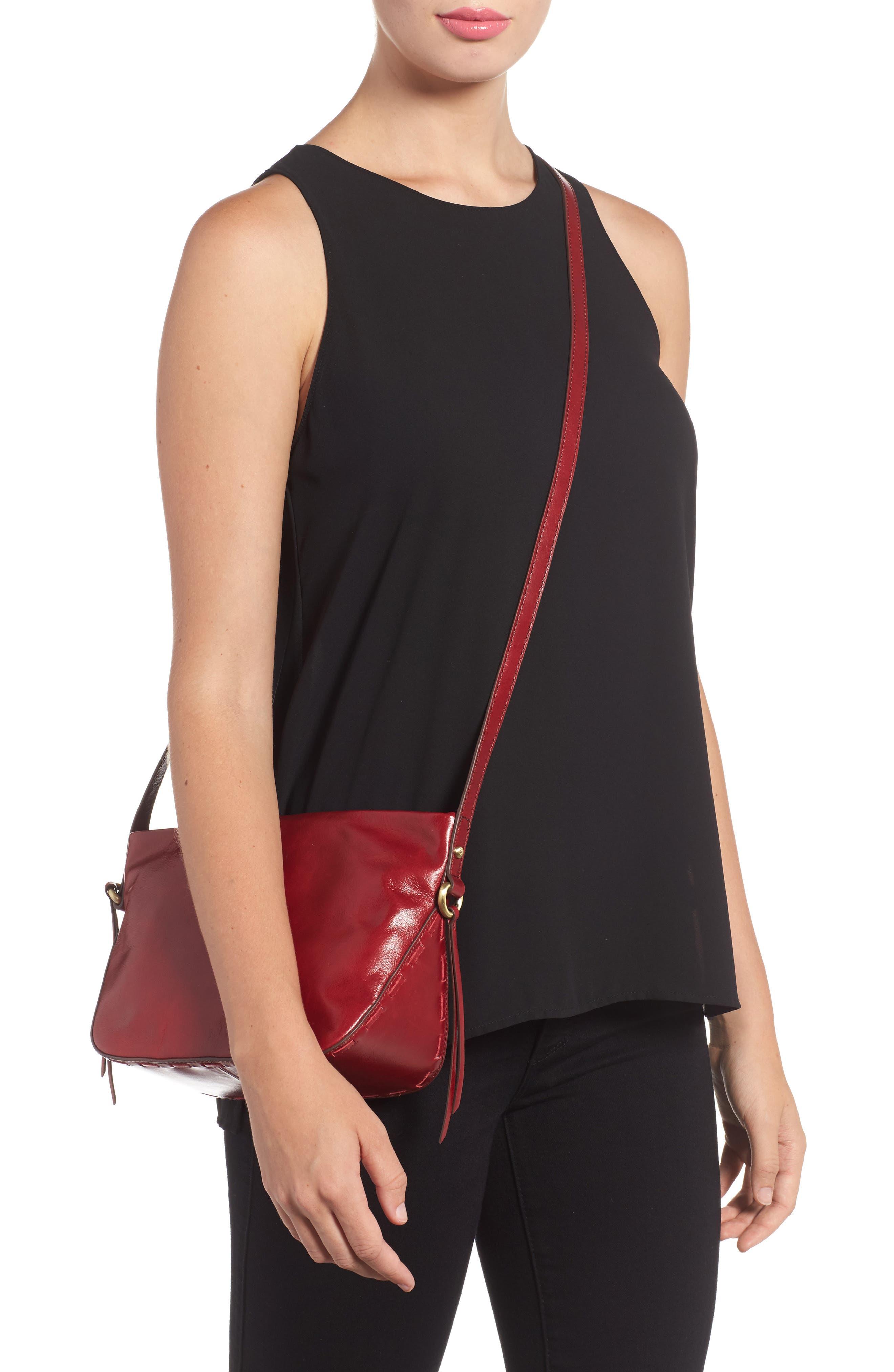 Muse Calfskin Leather Crossbody Bag,                             Alternate thumbnail 2, color,                             Cardinal
