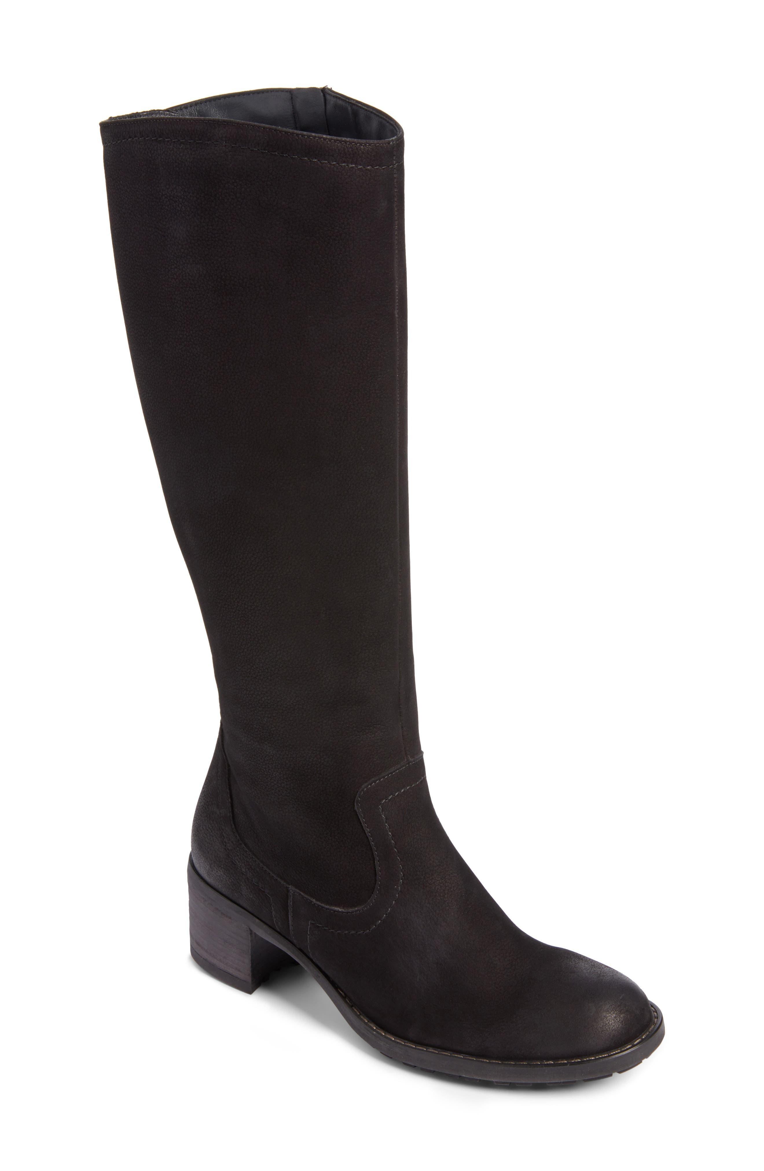 Kendal Boot,                             Main thumbnail 1, color,                             Black Nubuck Leather