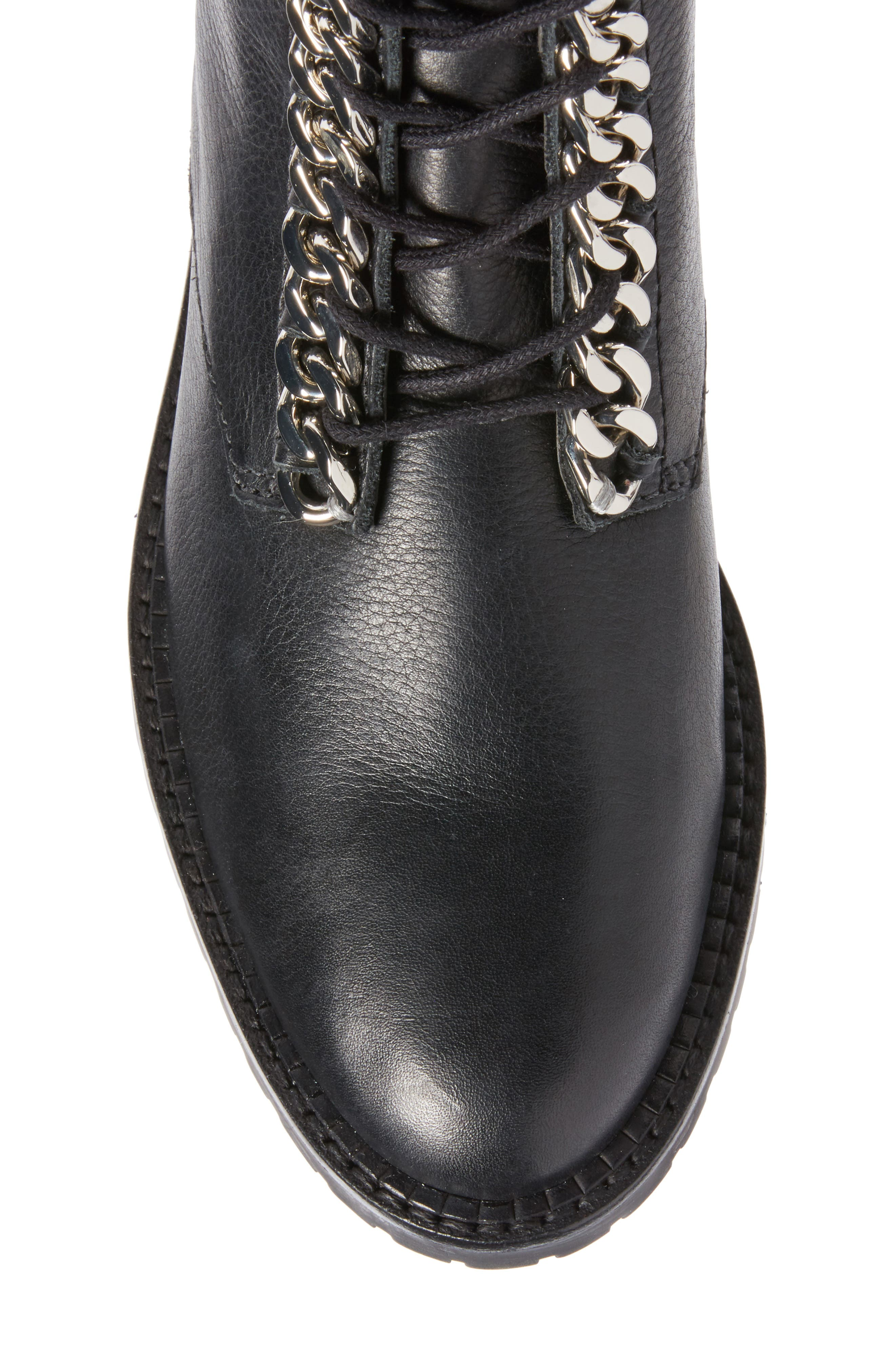 Gian Combat Boot,                             Alternate thumbnail 5, color,                             Black Leather
