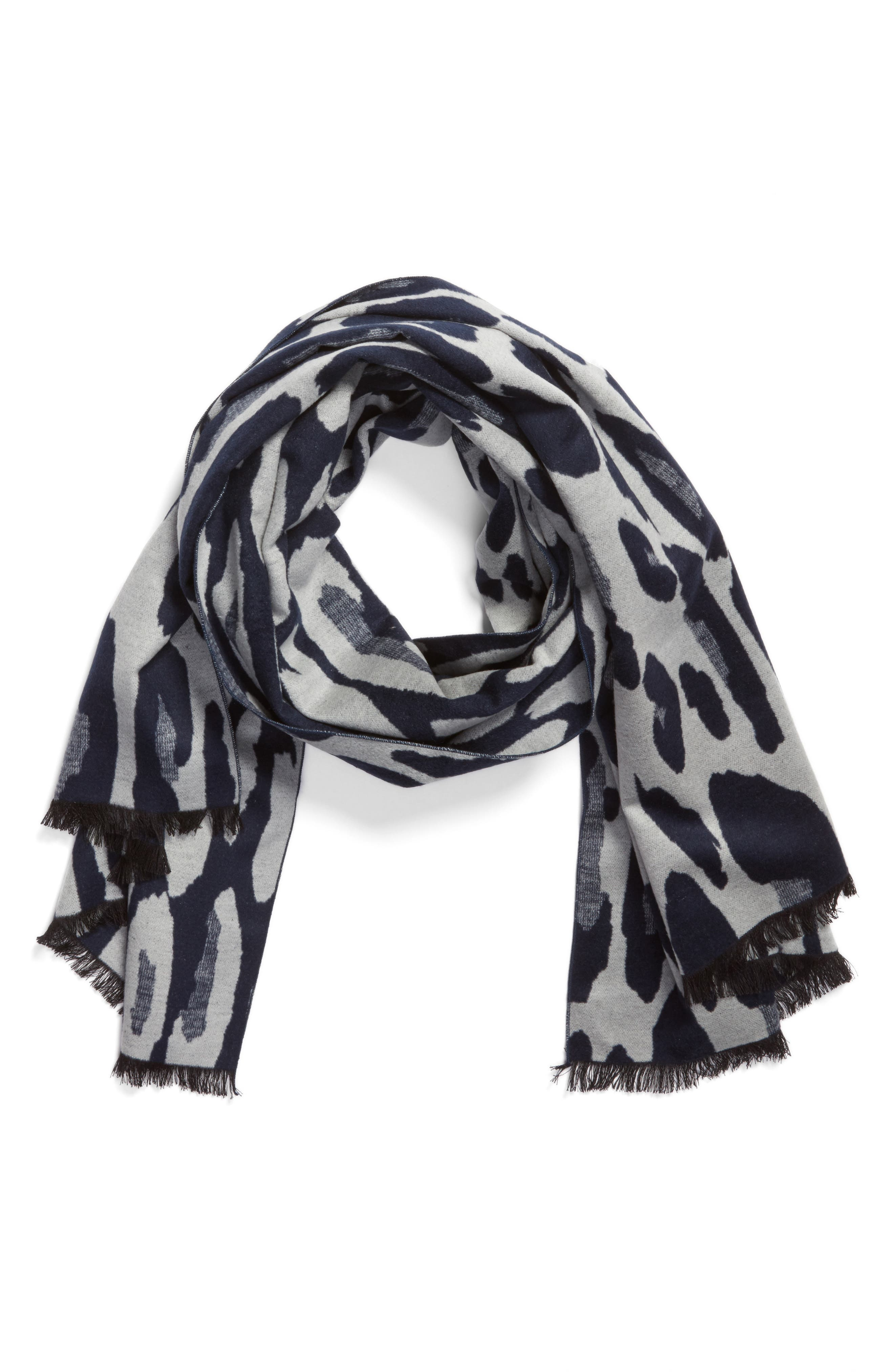 Alternate Image 1 Selected - Helen Kaminski Leopard Print Brushed Silk Scarf