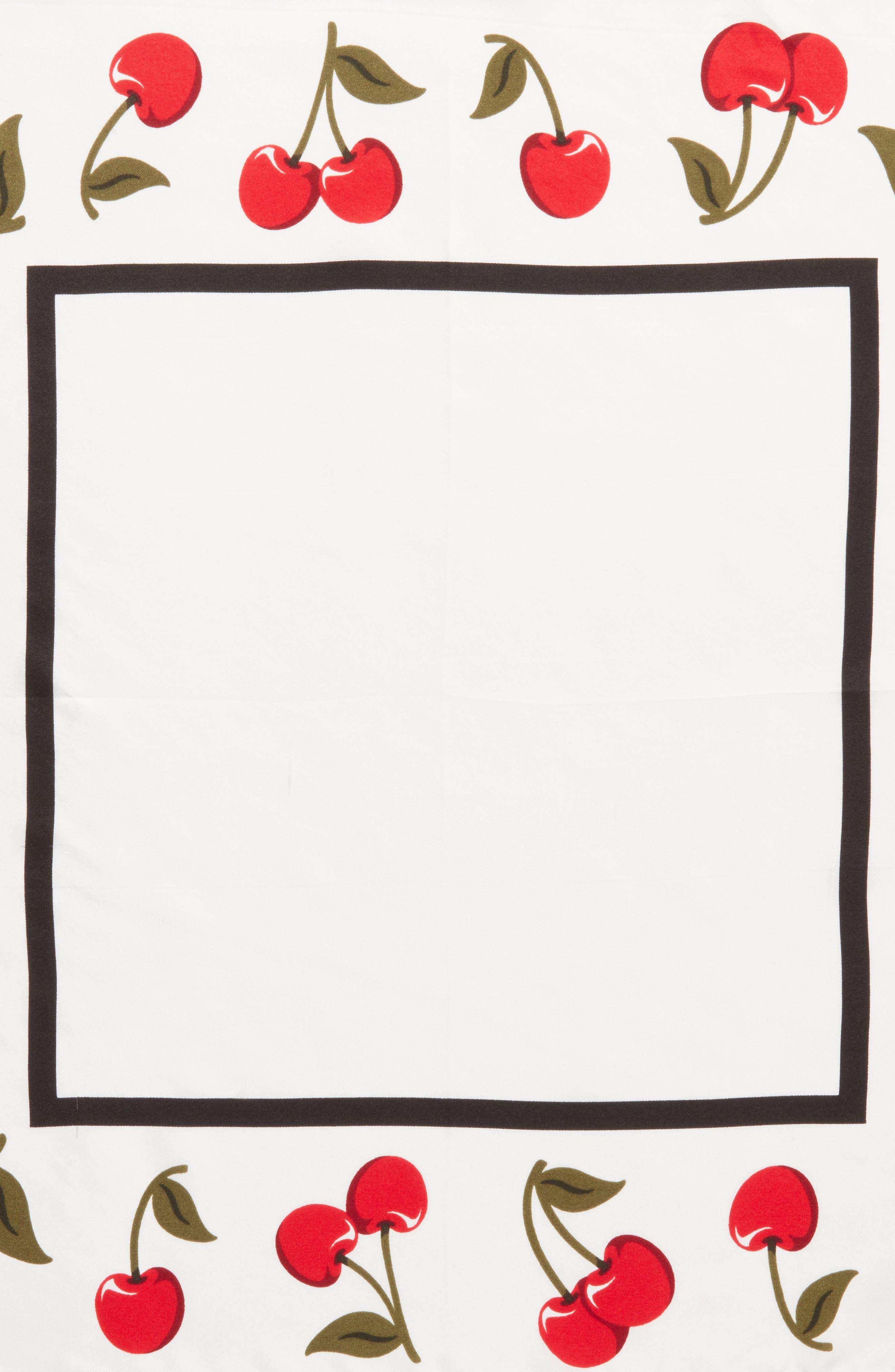 cherry silk bandana,                             Alternate thumbnail 4, color,                             Cream