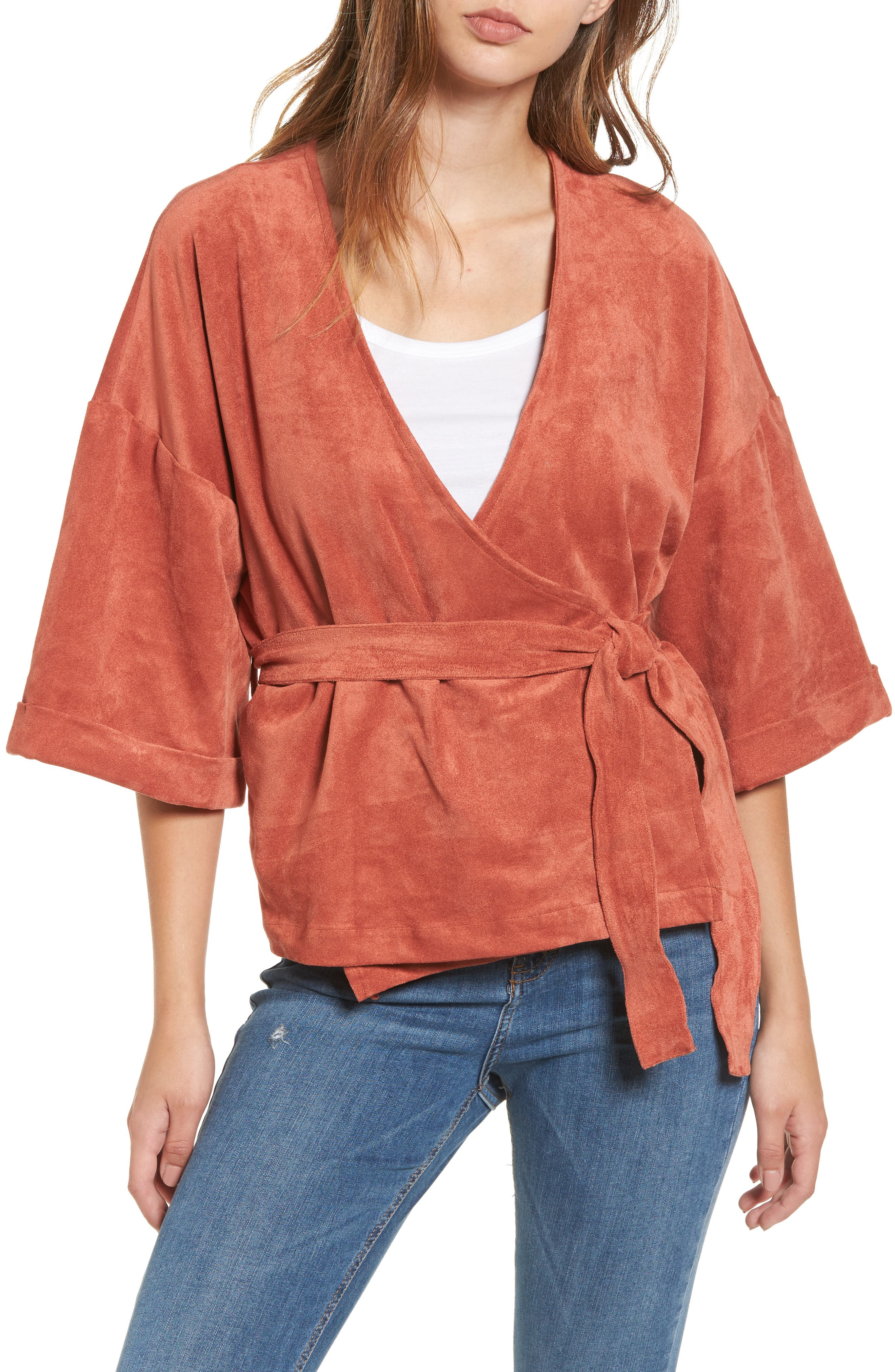Main Image - Tularosa Rory Faux Suede Wrap Top