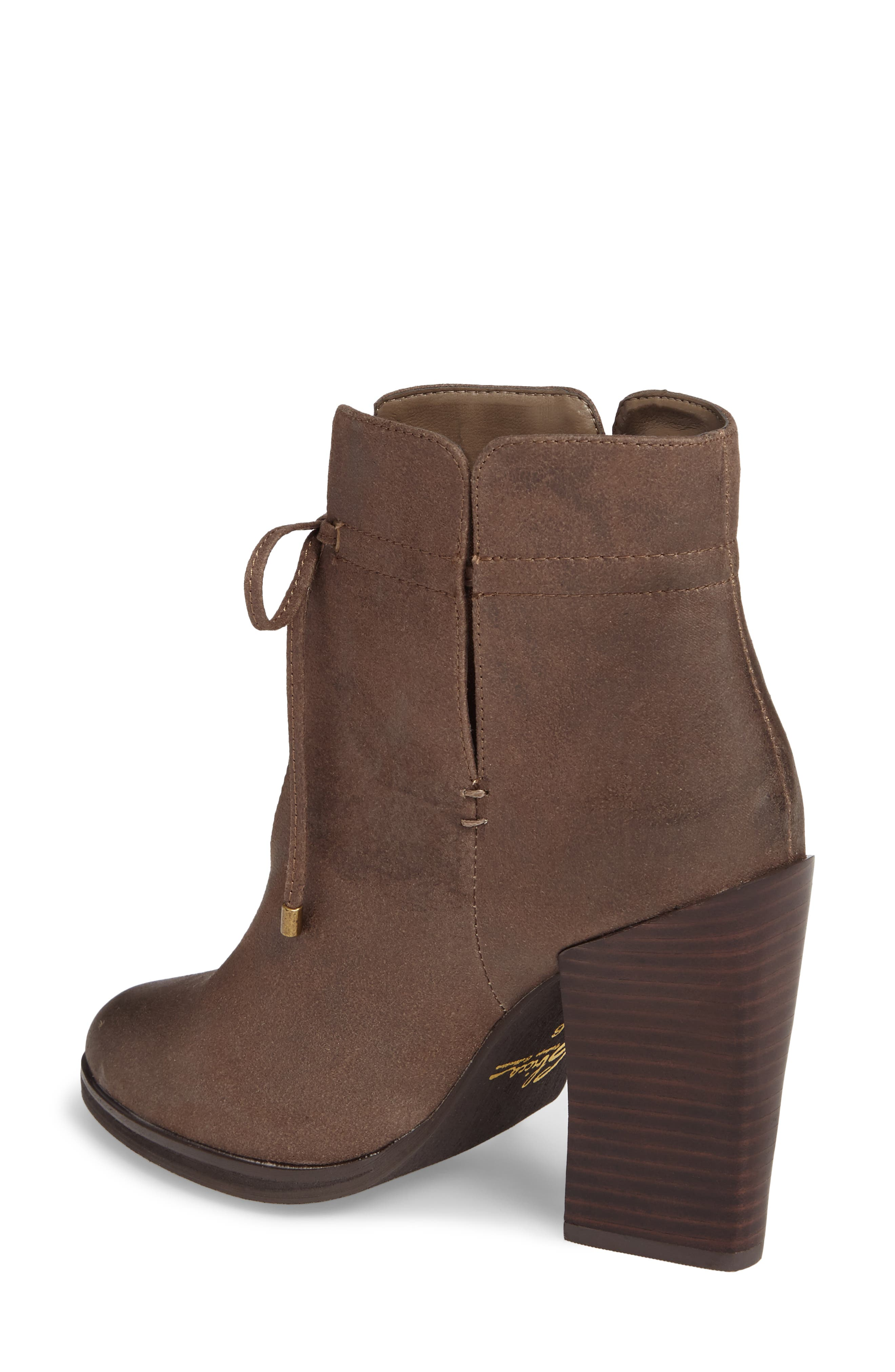 Chick Flick Bootie,                             Alternate thumbnail 2, color,                             Taupe Faux Leather
