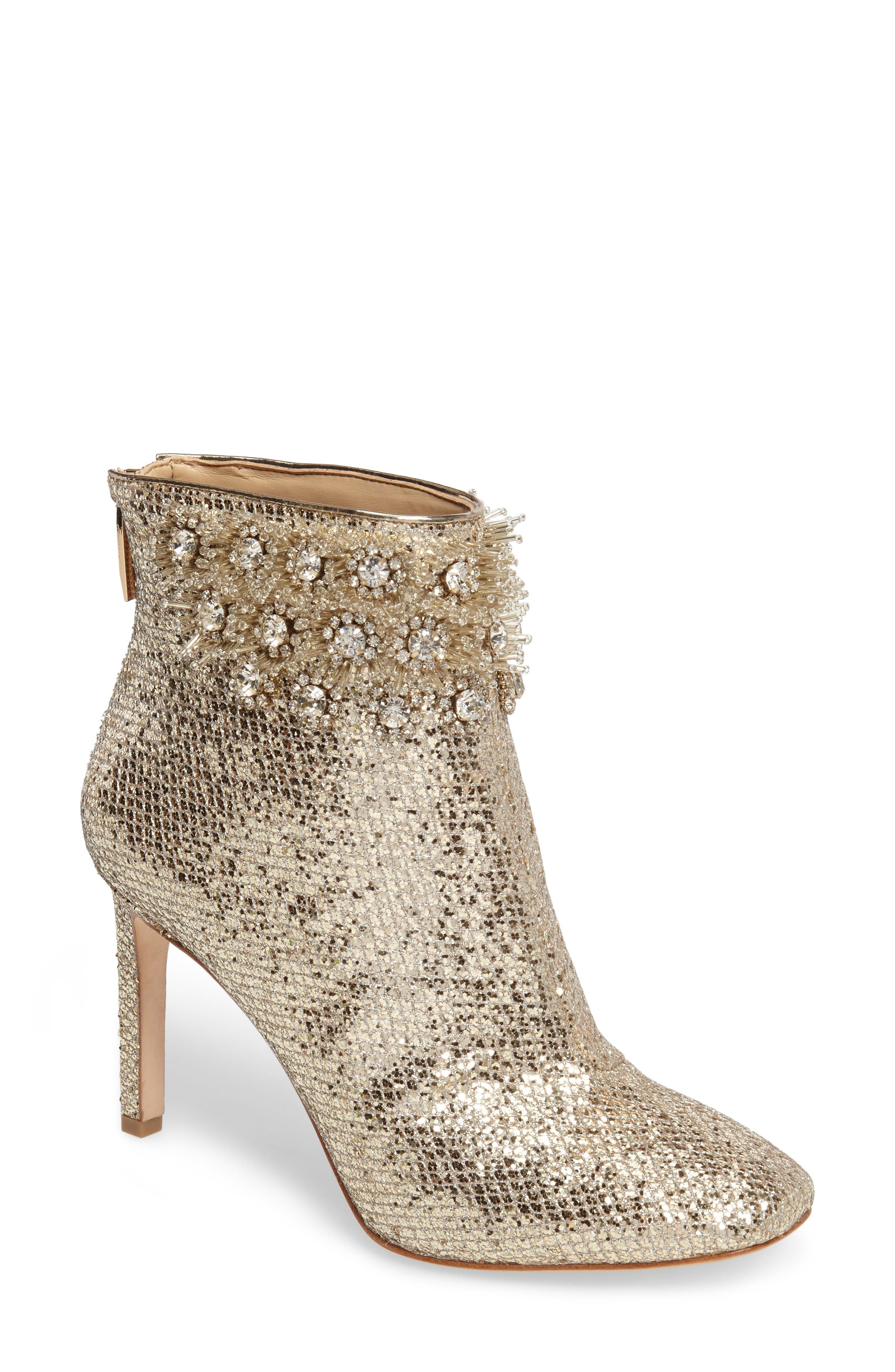 Imagine Vince Camuto Lura Crystal Flower Bootie (Women)