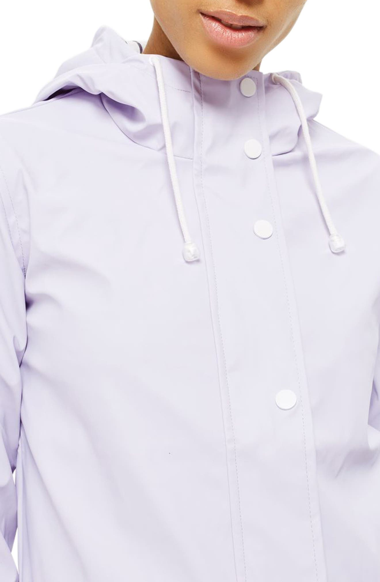 Maisie Rain Mac Jacket,                             Alternate thumbnail 3, color,                             Lilac