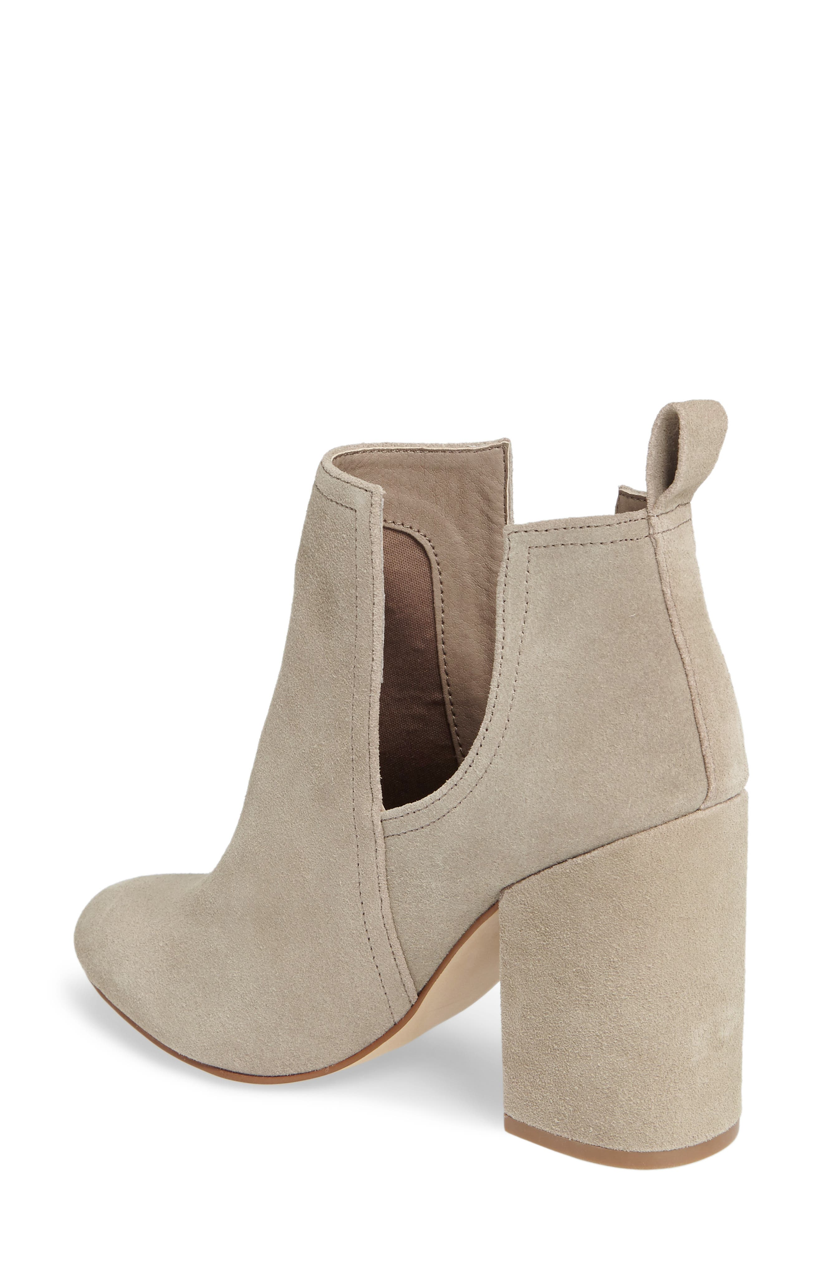 Naomi Cutout Bootie,                             Alternate thumbnail 2, color,                             Taupe Suede