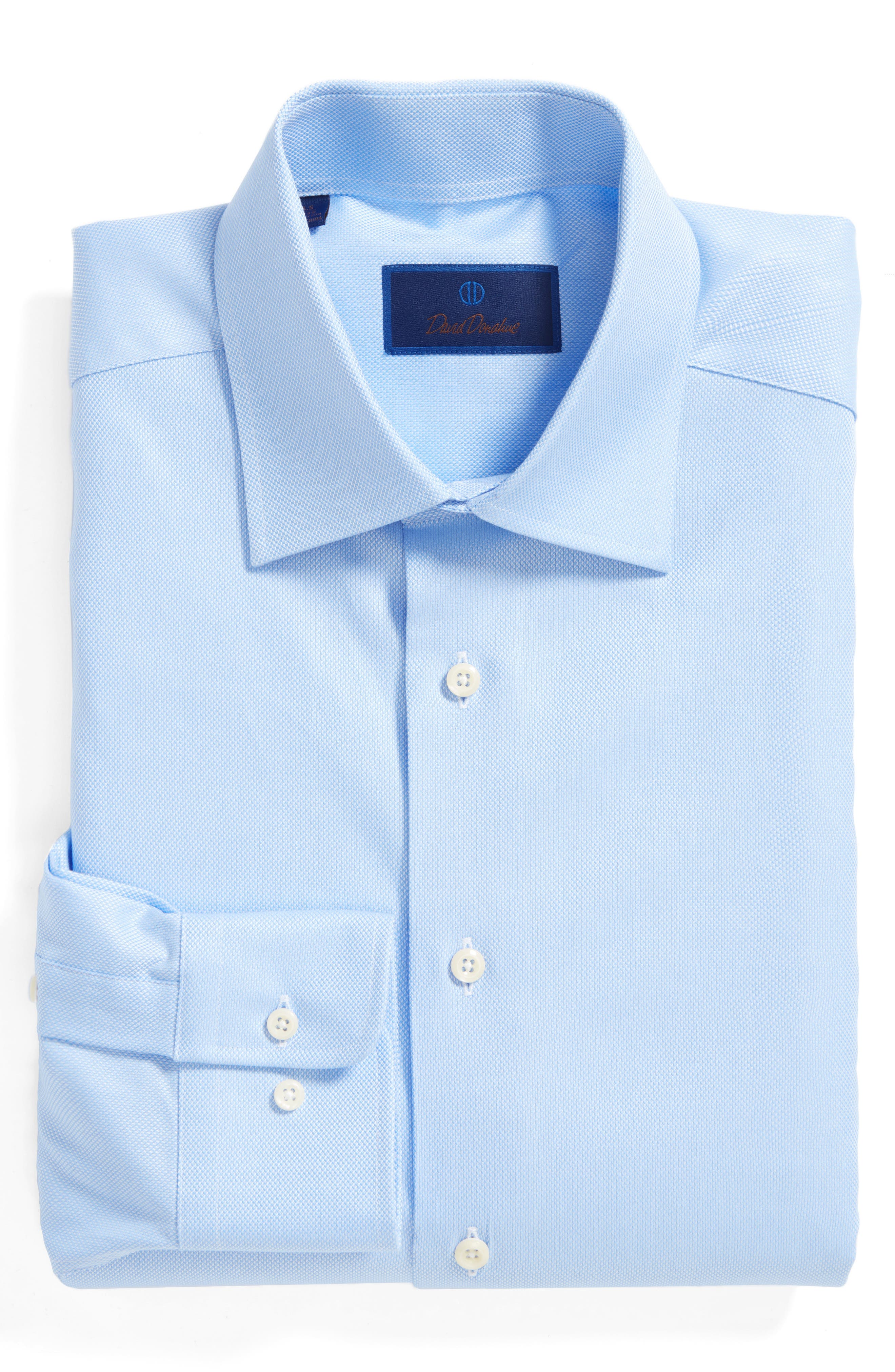 Main Image - David Donahue Regular Fit Oxford Dress Shirt