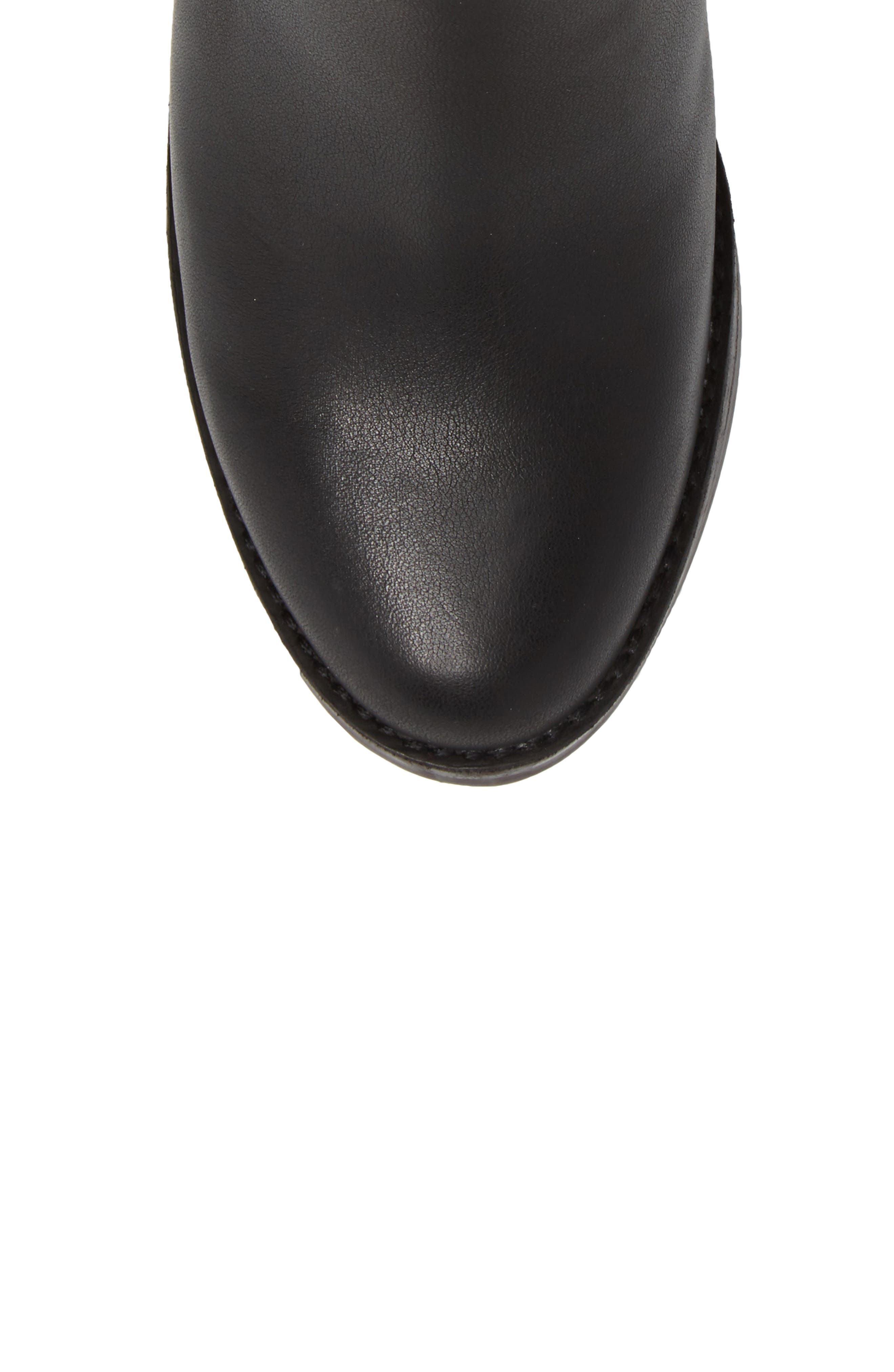 Camden Chelsea Boot,                             Alternate thumbnail 5, color,                             Black Leather