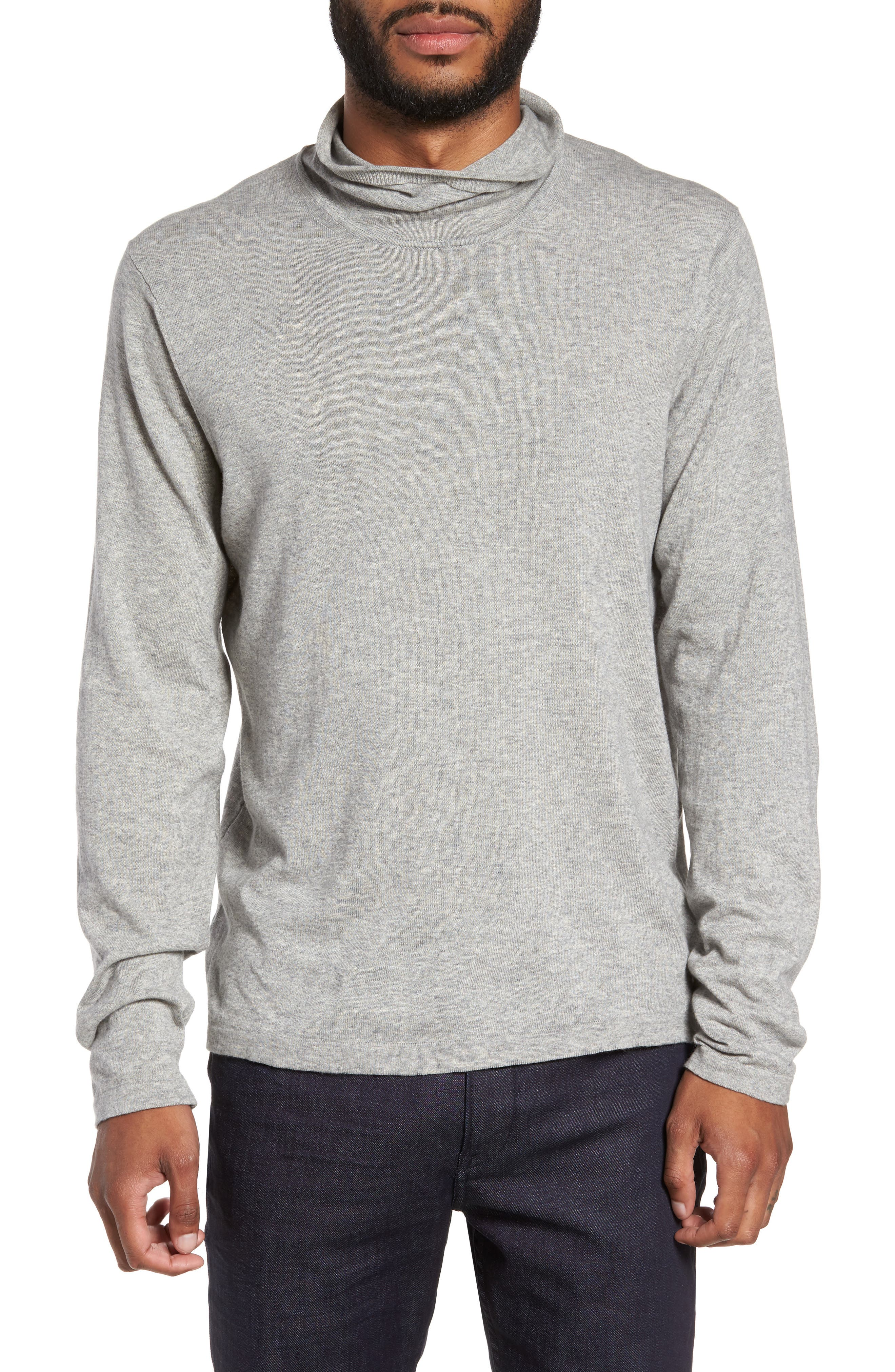 Hess Wool Turtleneck Sweater,                         Main,                         color, Light Grey