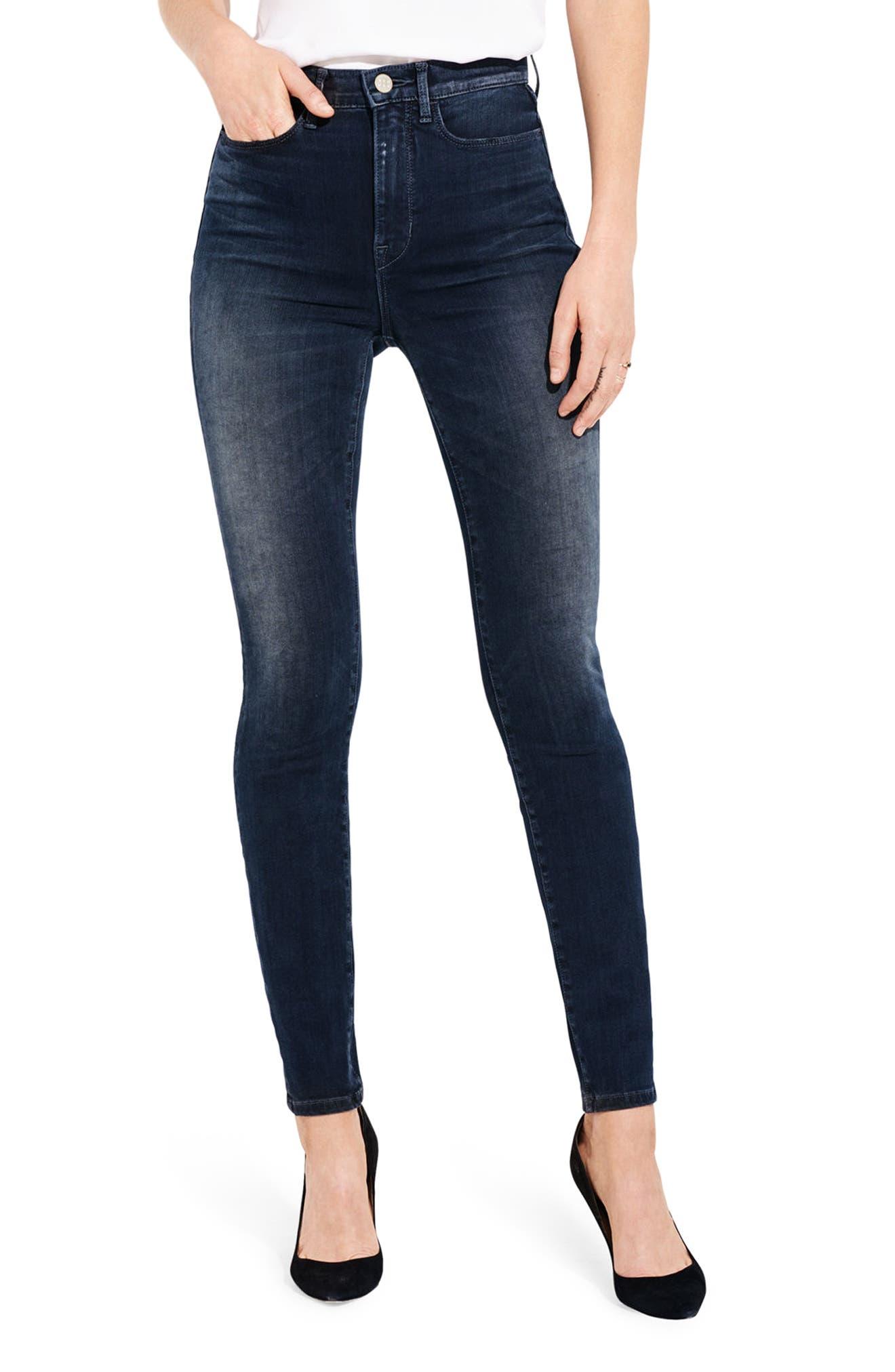 The Riser High Waist Skinny Jeans,                         Main,                         color, Jaguar Legs
