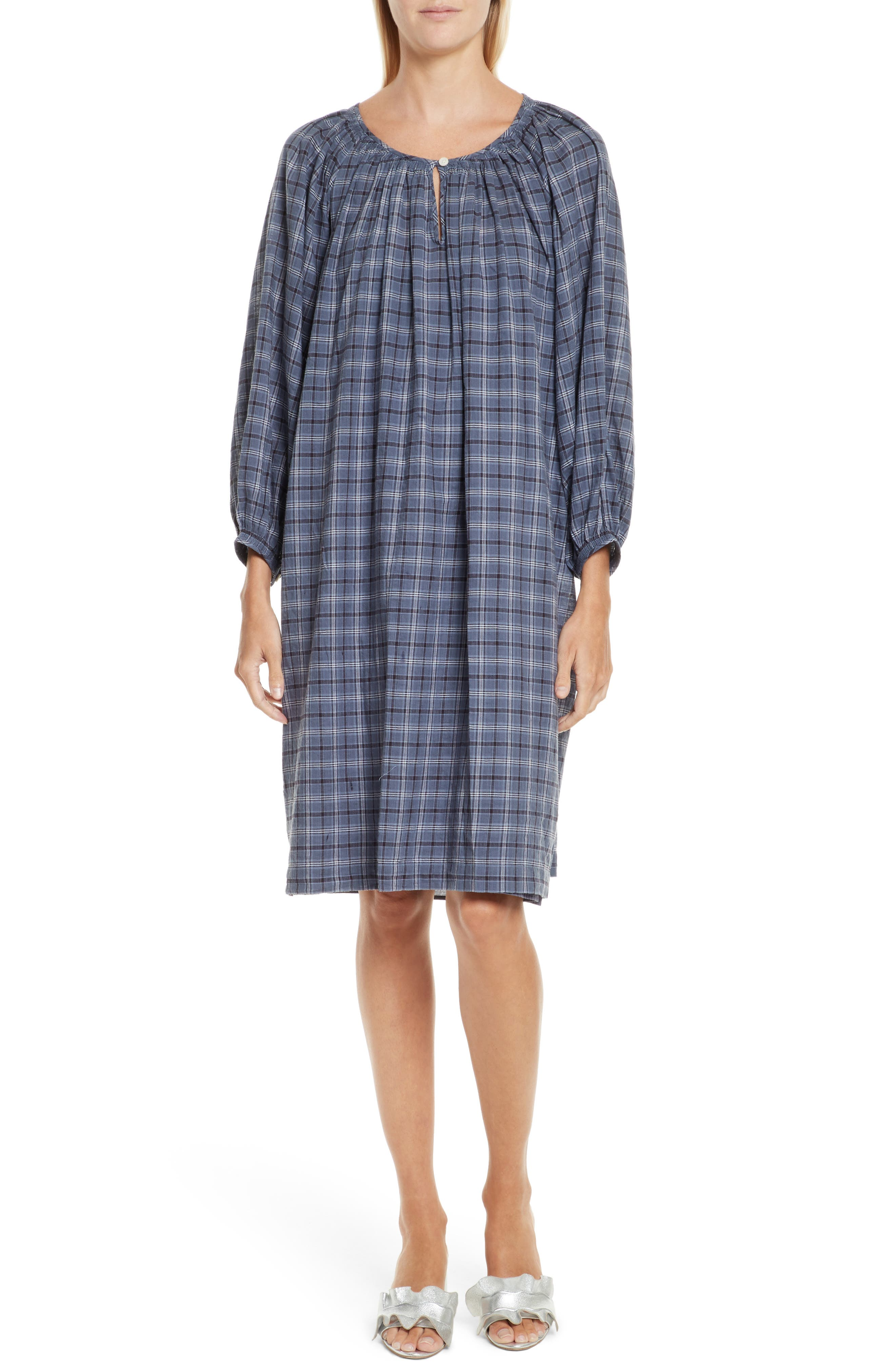 The Dreamer Dress,                         Main,                         color, Library Plaid