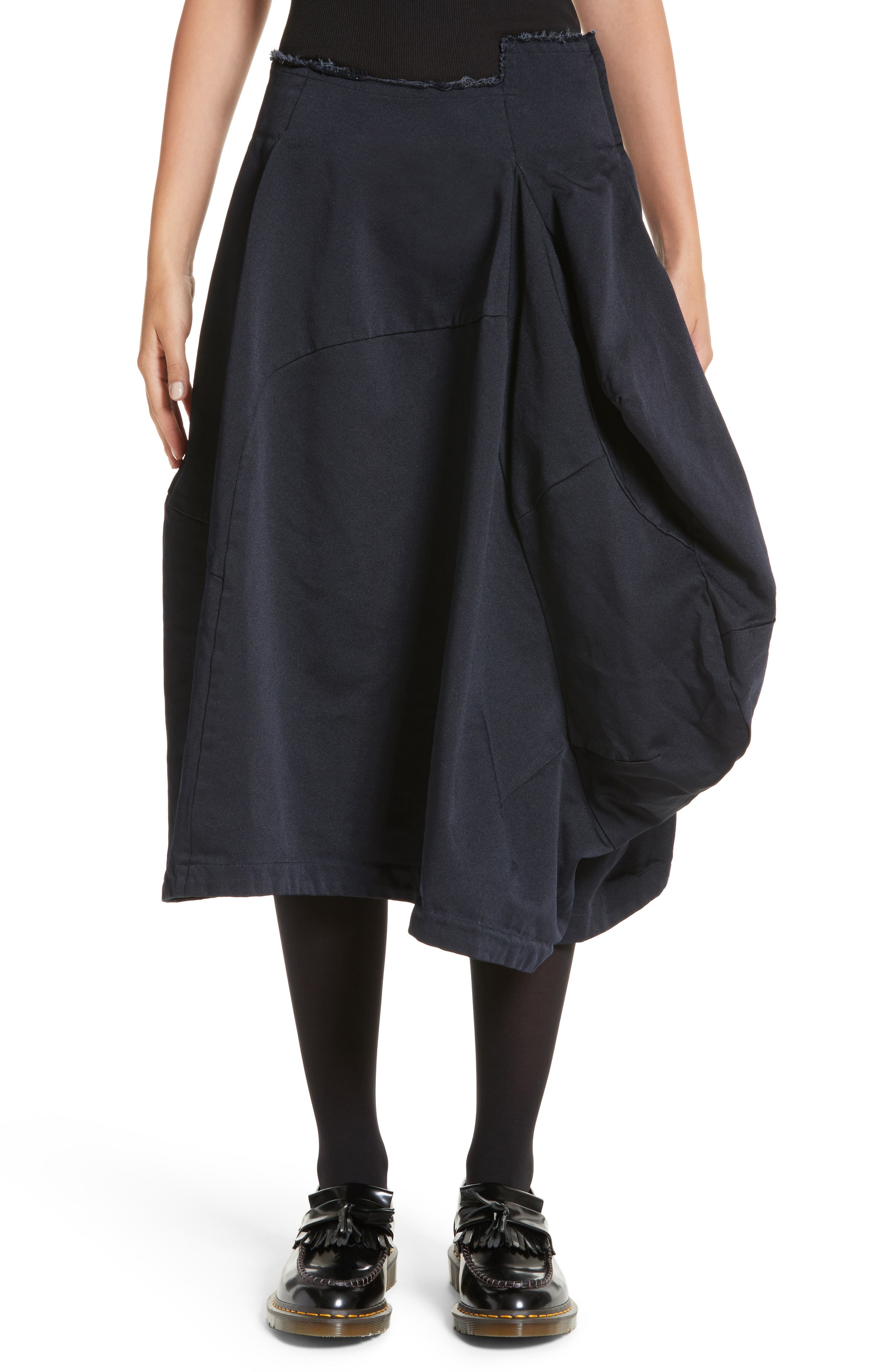 Origami Skirt,                         Main,                         color, Navy