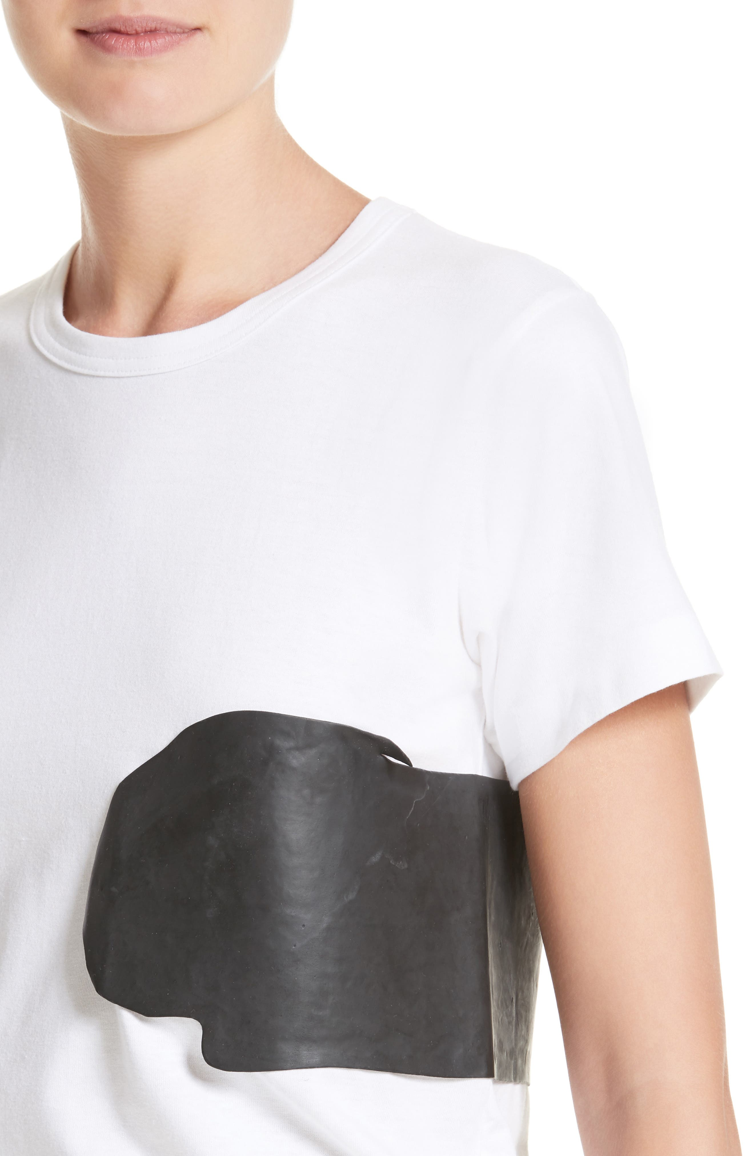 Rubber Graphic Tee,                             Alternate thumbnail 4, color,                             White/ Black
