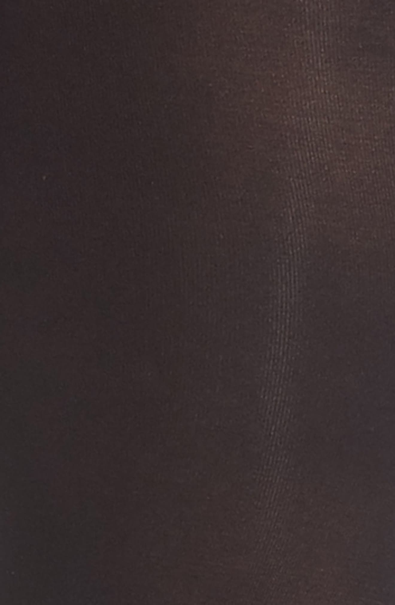Opaque Control Top Tights,                             Alternate thumbnail 2, color,                             Black