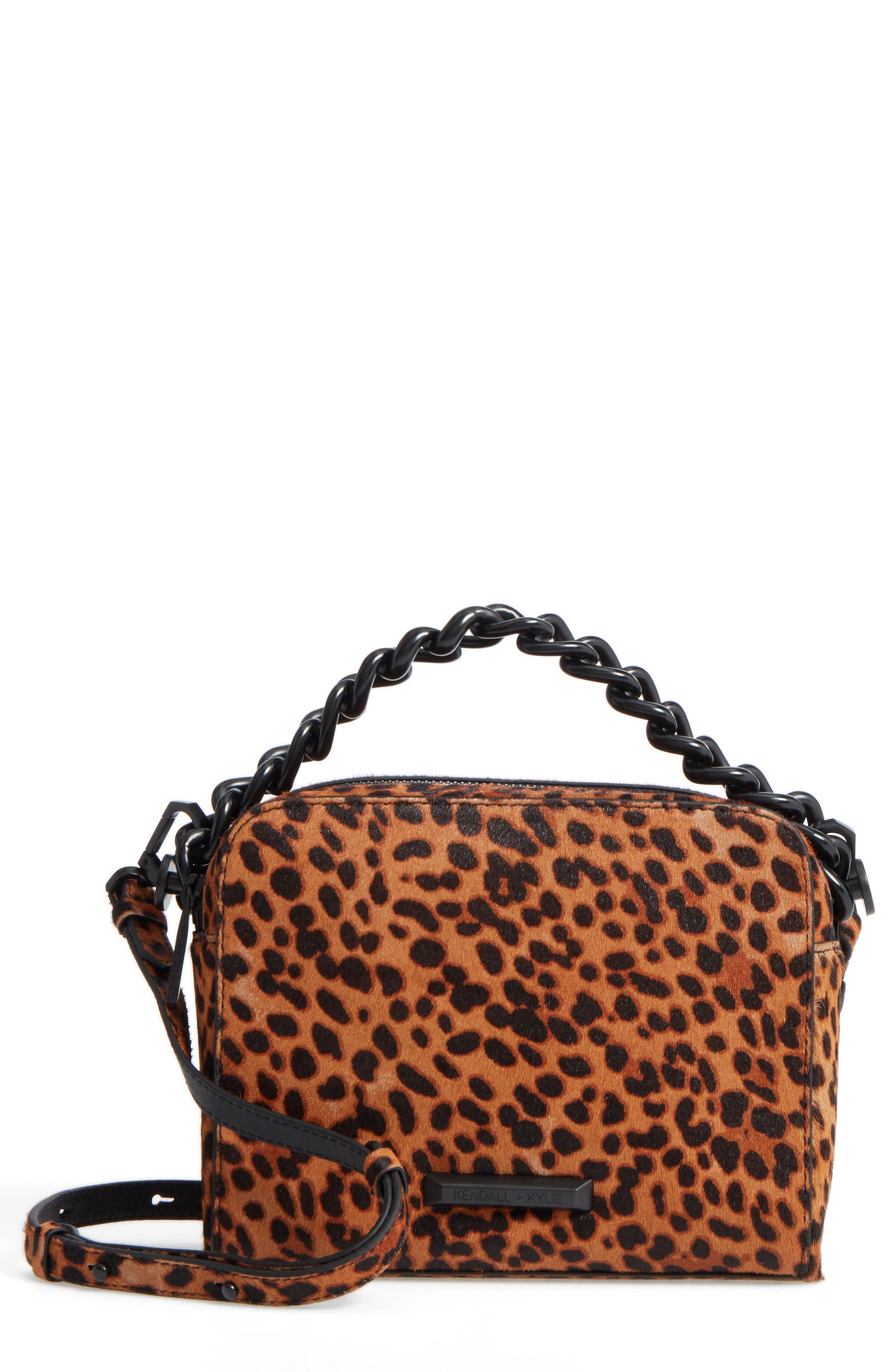 KENDALL + KYLIE Lucy Genuine Calf Hair Crossbody Bag