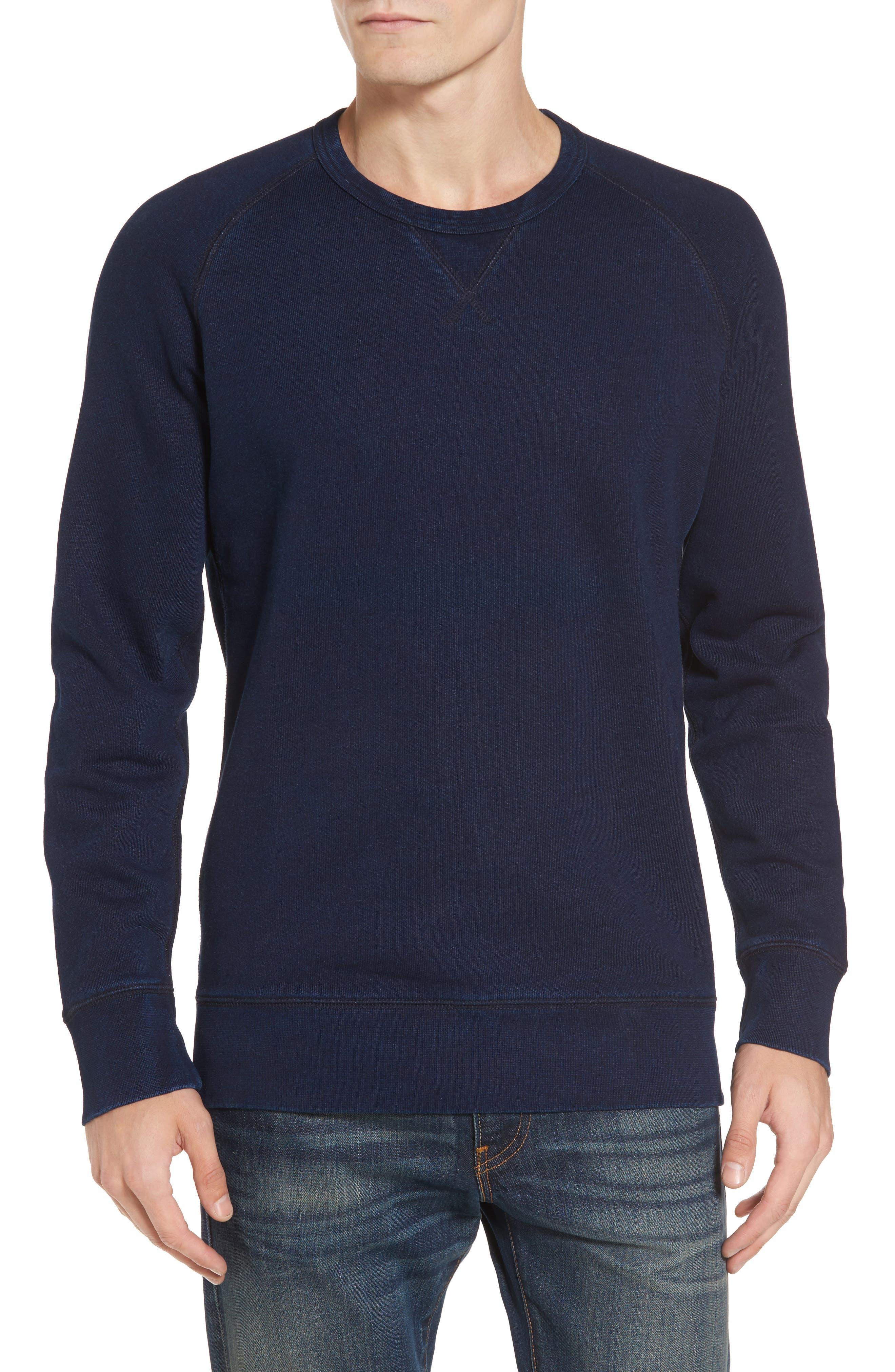 Original Crewneck Sweater,                         Main,                         color, Dark Indigo