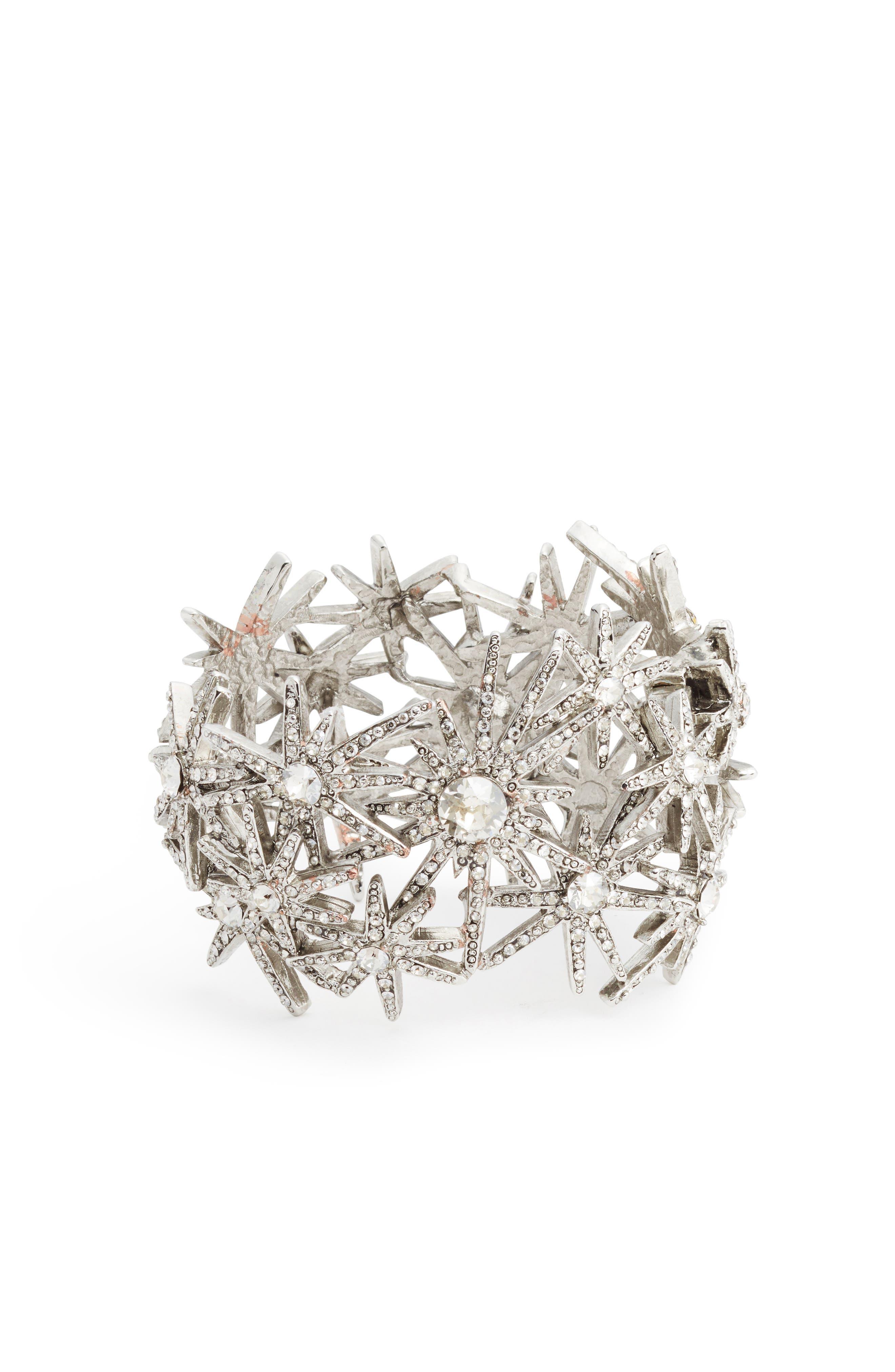 Oscar de la Renta Crystal Fireworks Bracelet