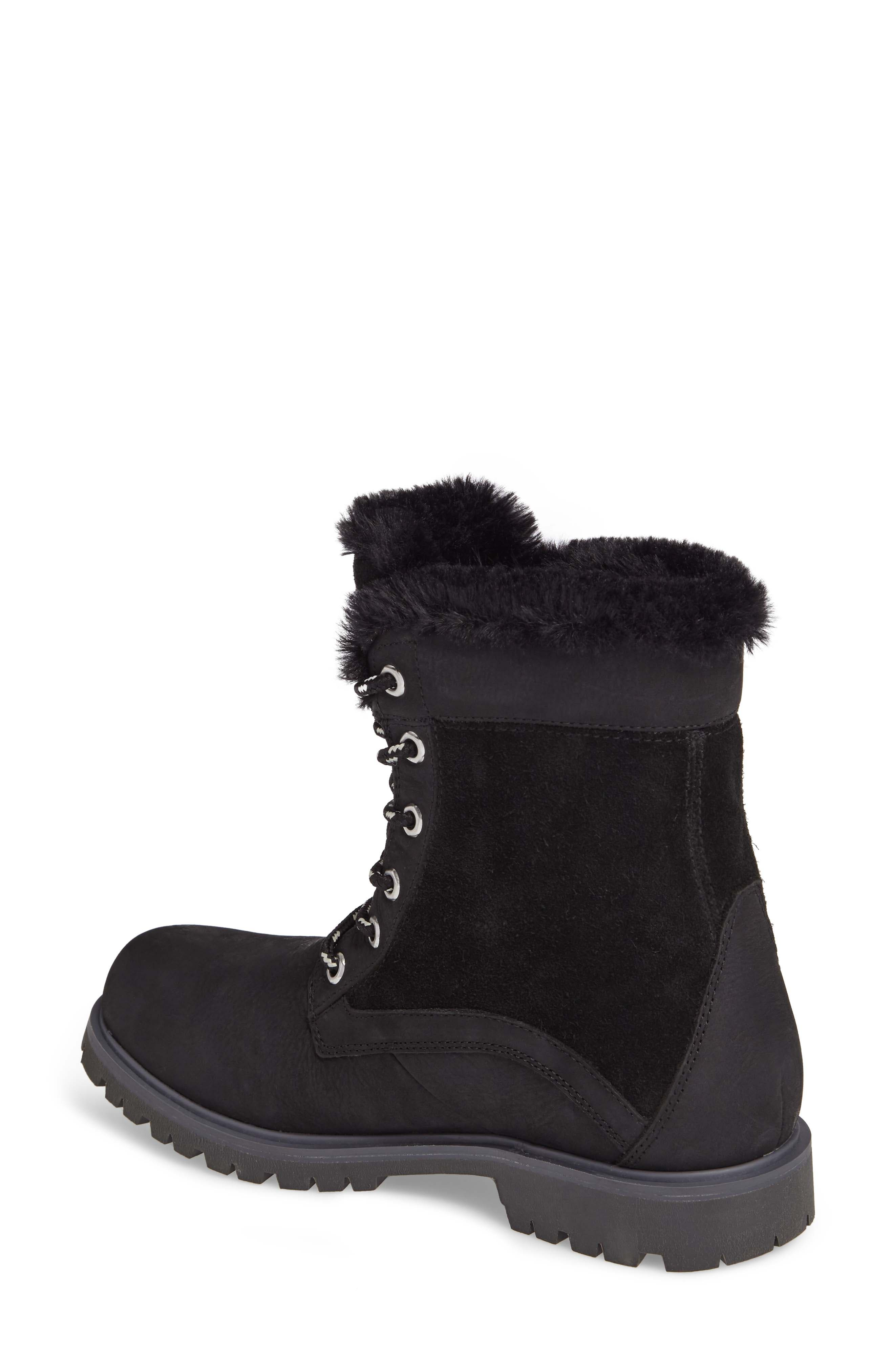 Marion Waterproof Winter Boot,                             Alternate thumbnail 2, color,                             Jet Black / Ebony / Black