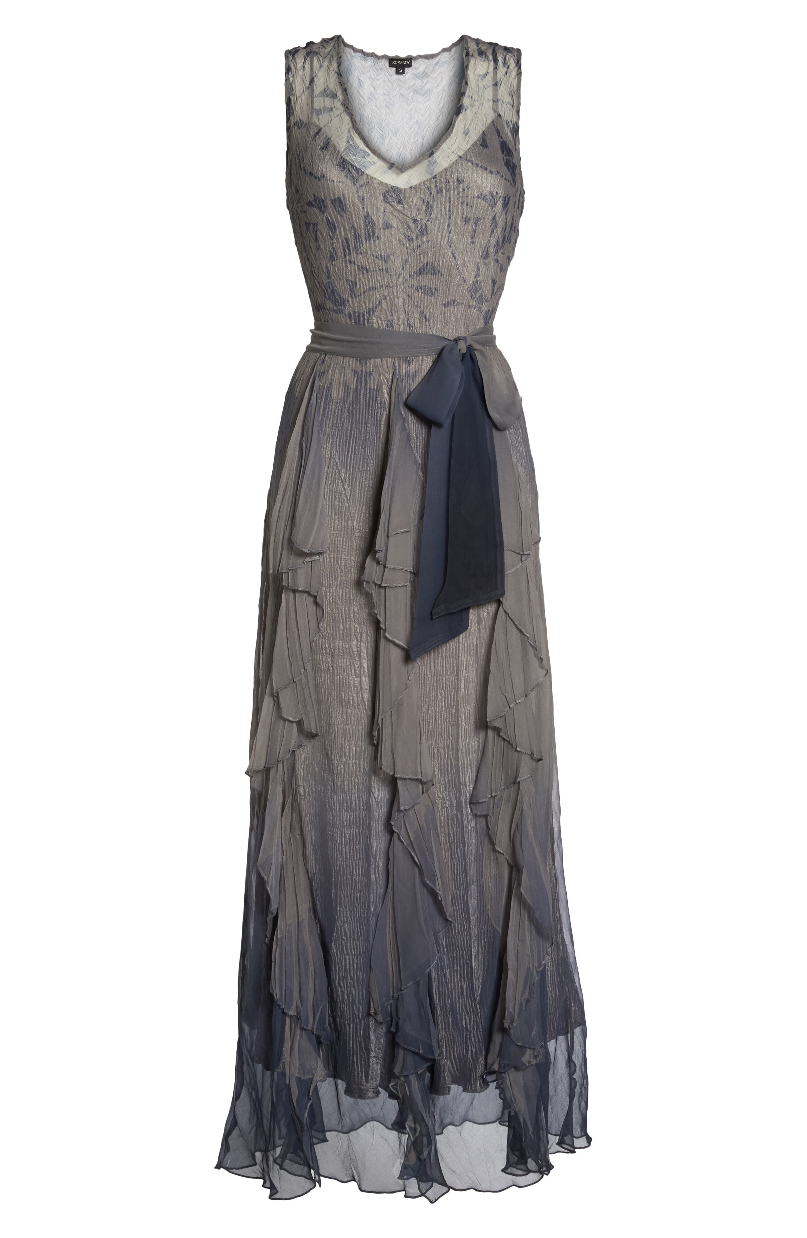 Alternate Image 6  - Komarov Print Sash Maxi Dress
