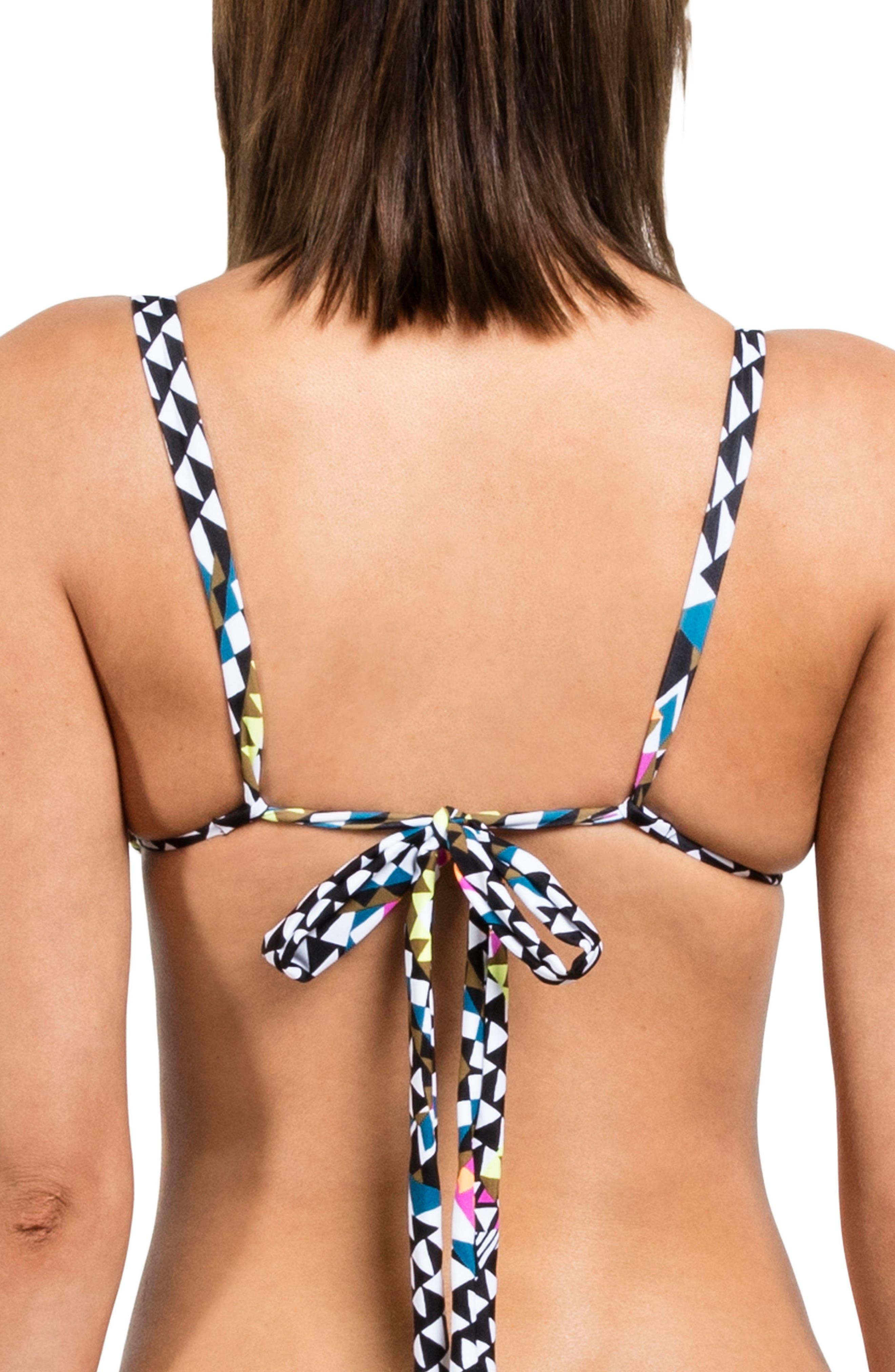 Spot On Reversible Triangle Bikini Top,                             Alternate thumbnail 2, color,                             White