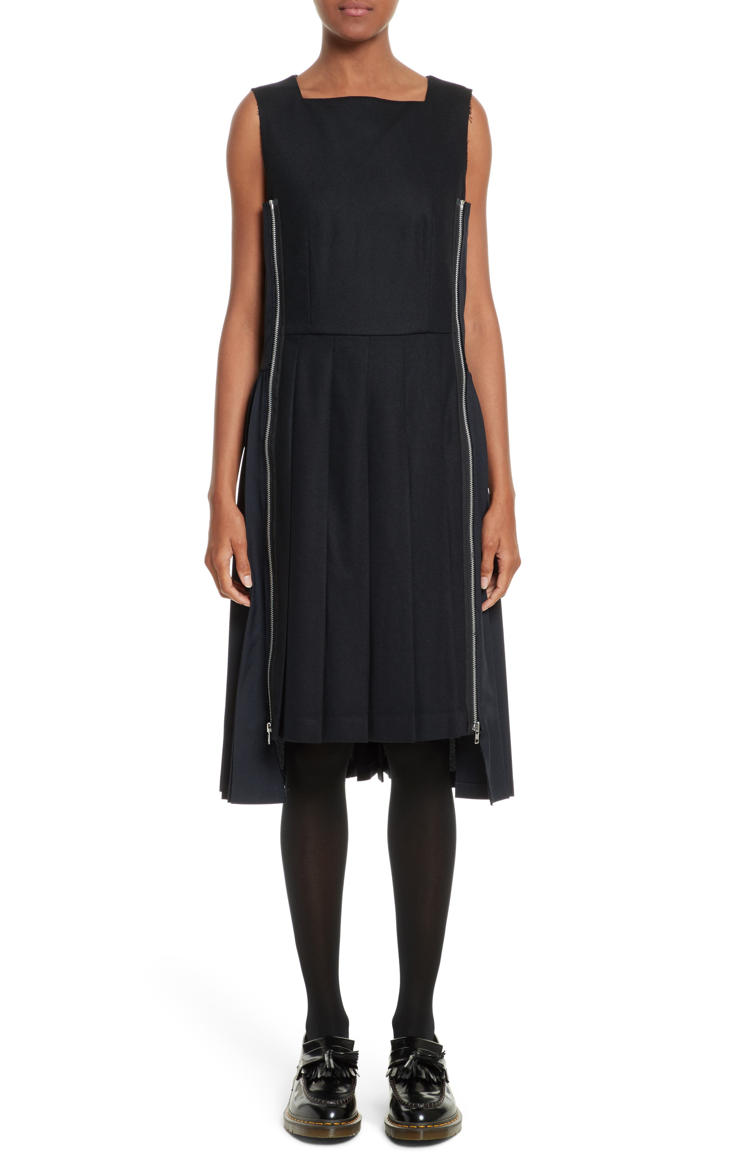 Alternate Image 1 Selected - Comme des Garçons Pleated Wool Dress