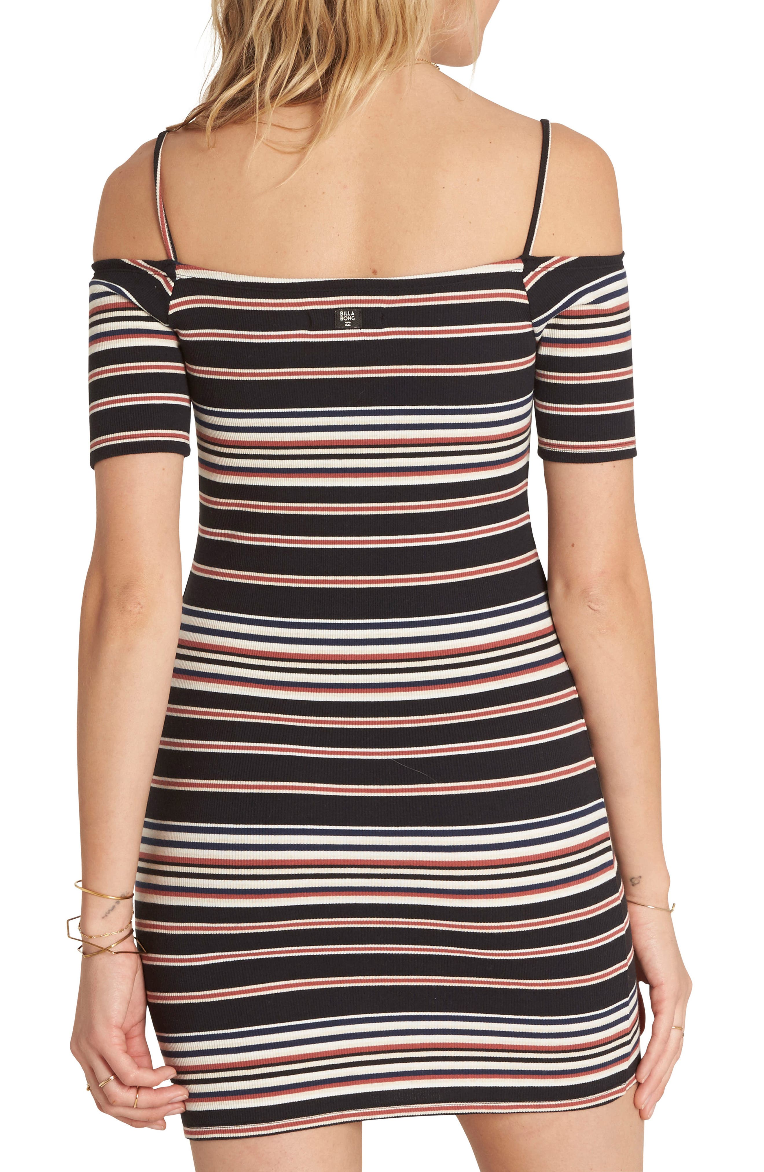 Checked Out Body-Con Minidress,                             Alternate thumbnail 2, color,                             Black