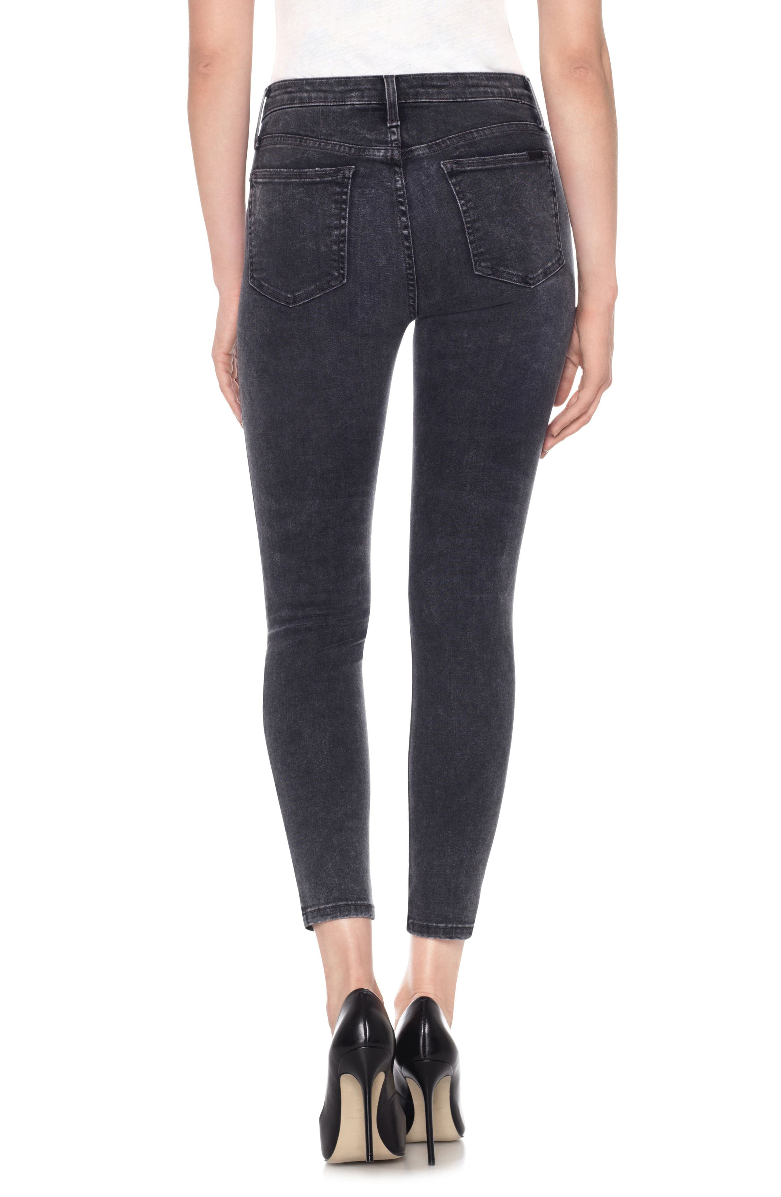Charlie High Waist Ankle Skinny Jeans,                             Alternate thumbnail 2, color,                             Clare
