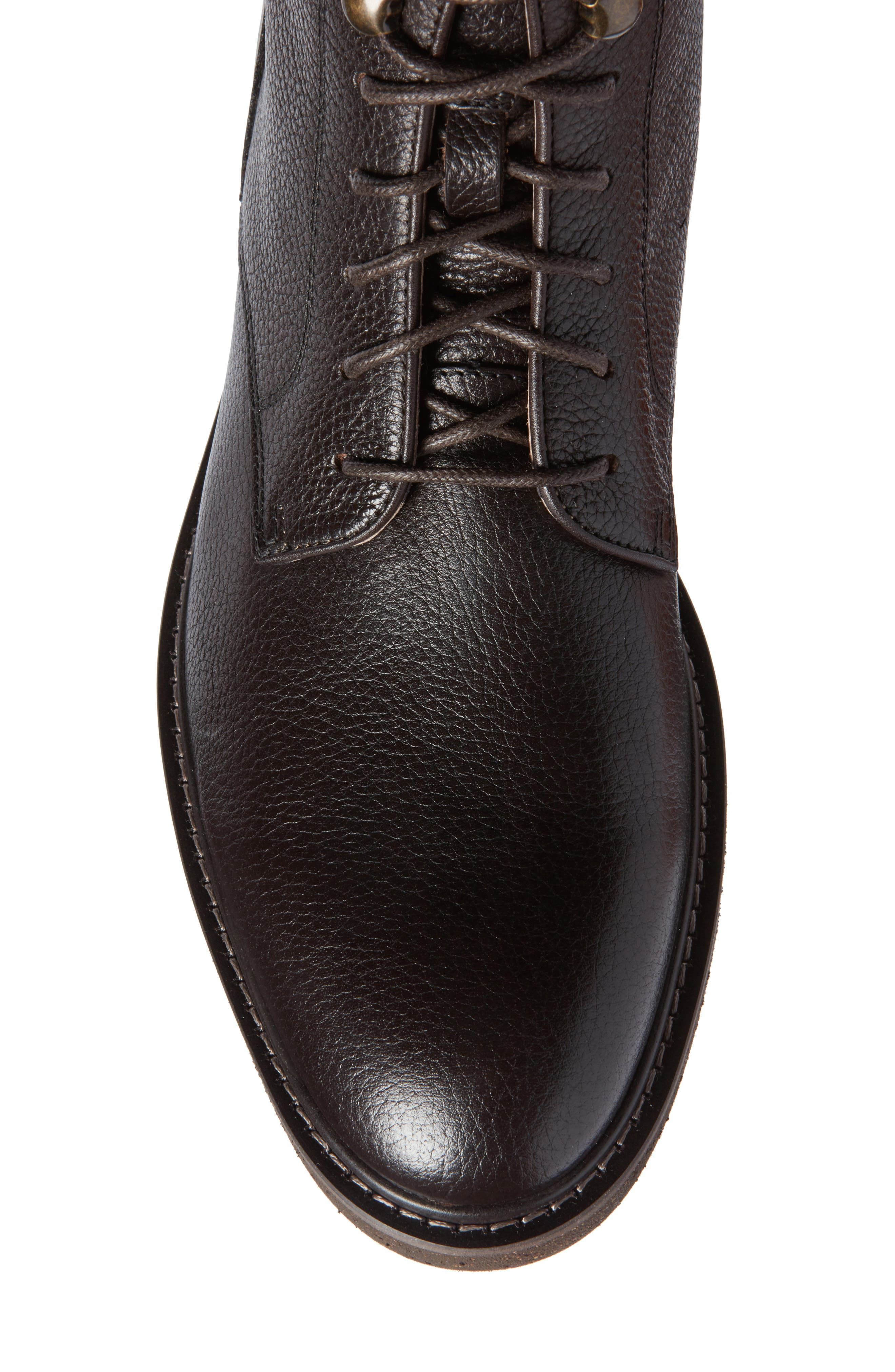 Trenton Plain Toe Boot,                             Alternate thumbnail 5, color,                             Chocolate Leather