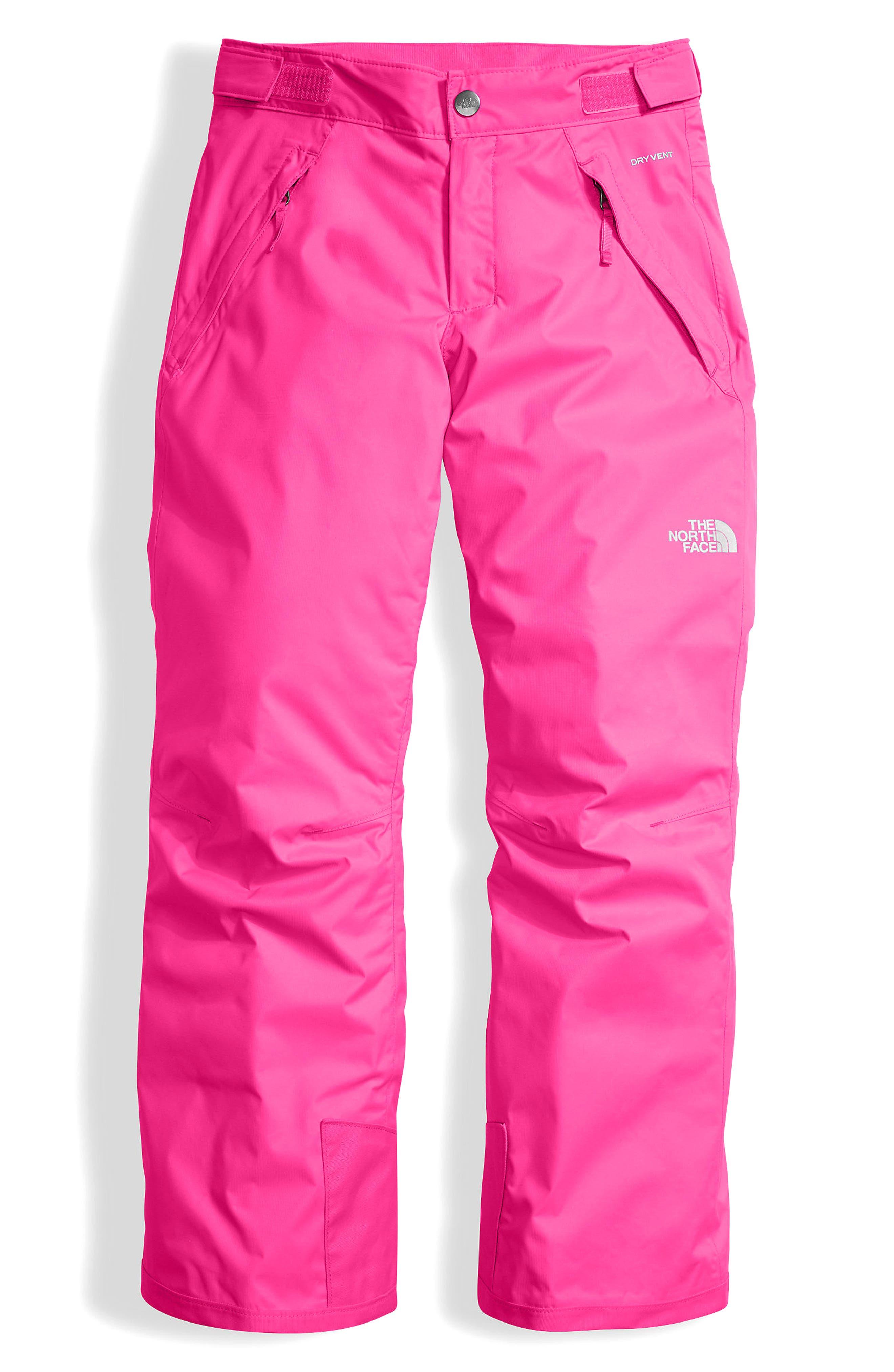 Freedom Waterproof Heatseeker<sup>™</sup> Insulated Snow Pants,                         Main,                         color, Petticoat Pink