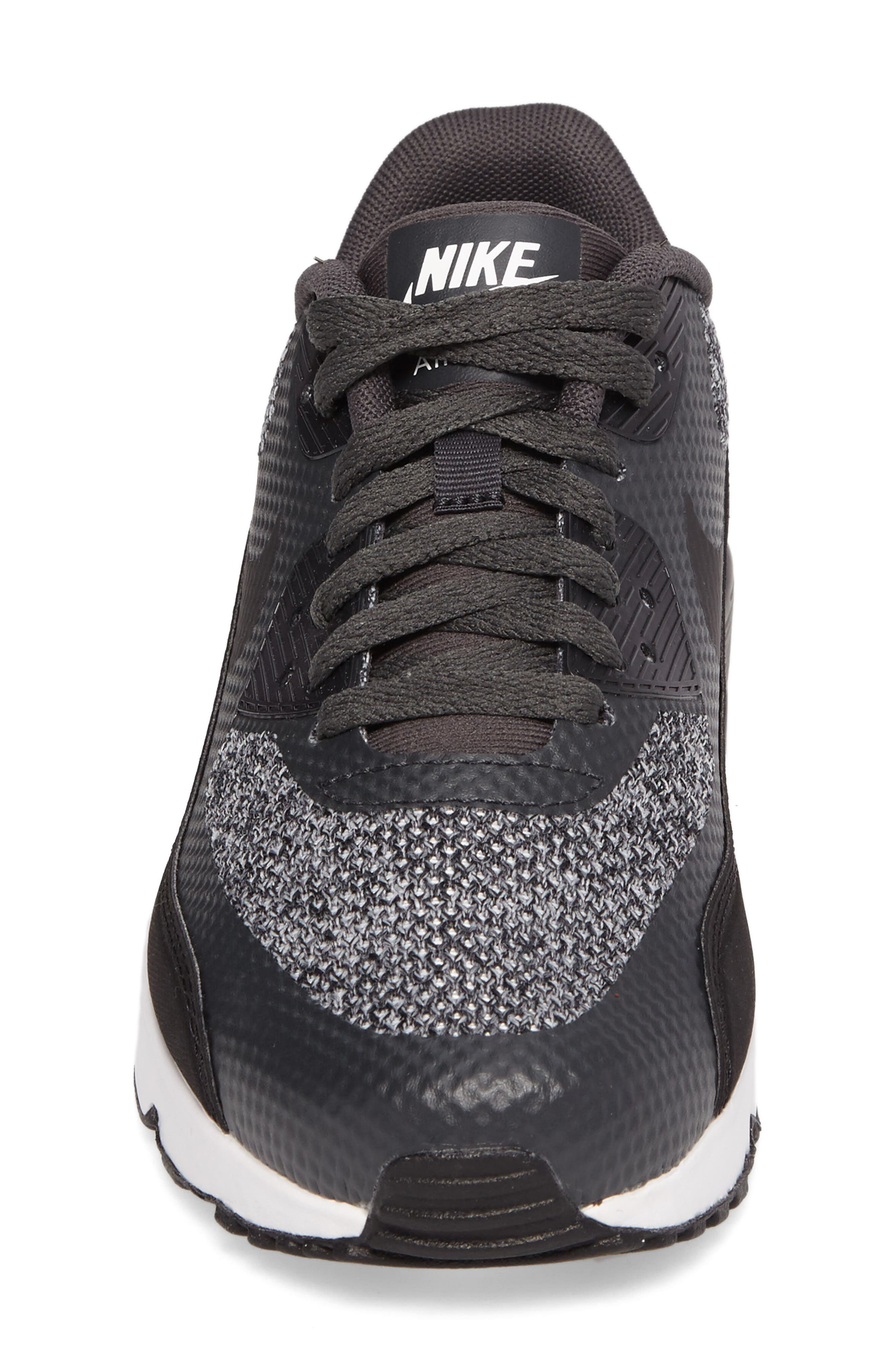 Air Max 90 Ultra 2.0 SE Sneaker,                             Alternate thumbnail 4, color,                             Anthracite/ Black