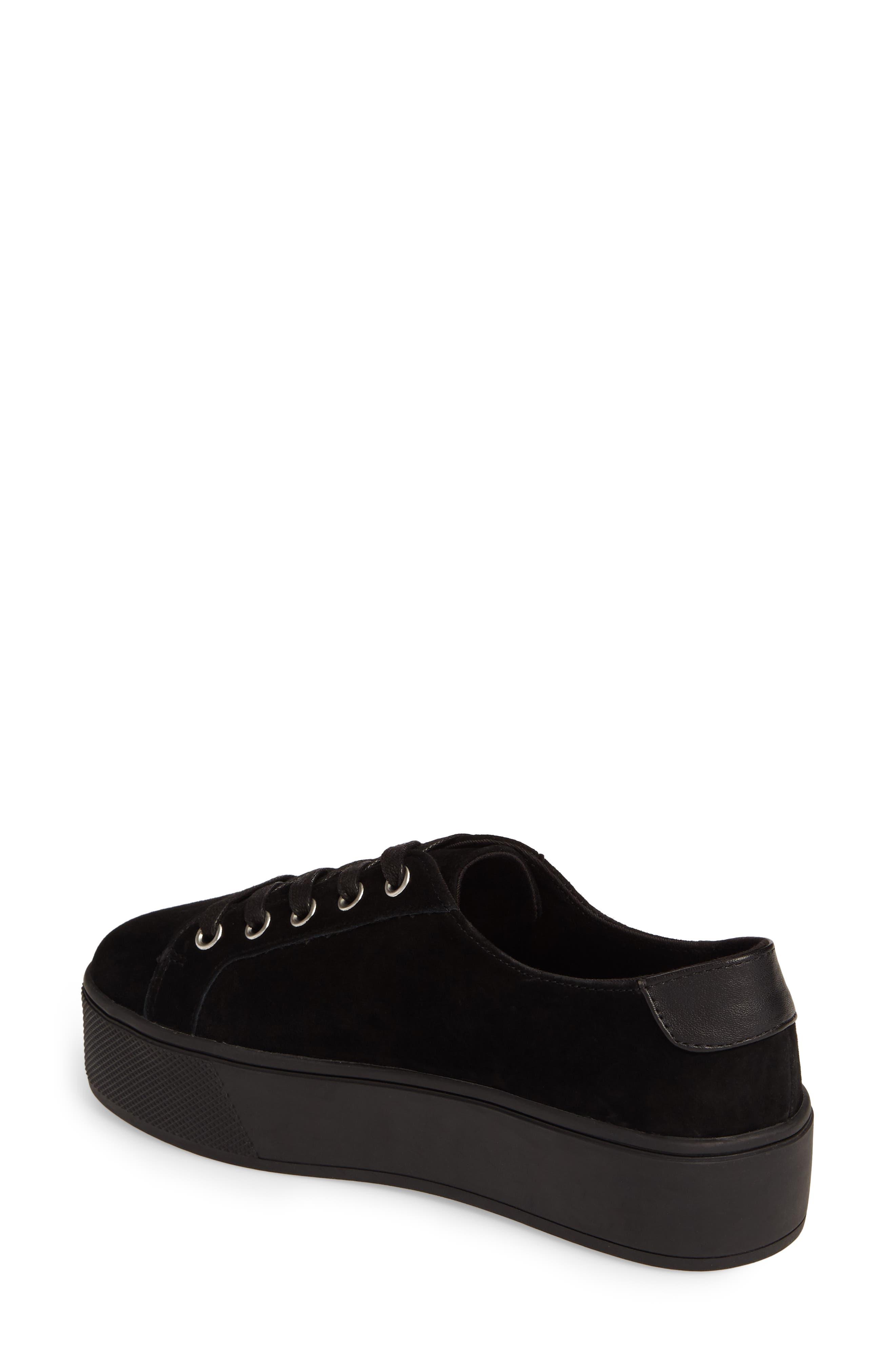 Felecia Platform Sneaker,                             Alternate thumbnail 2, color,                             Black Suede