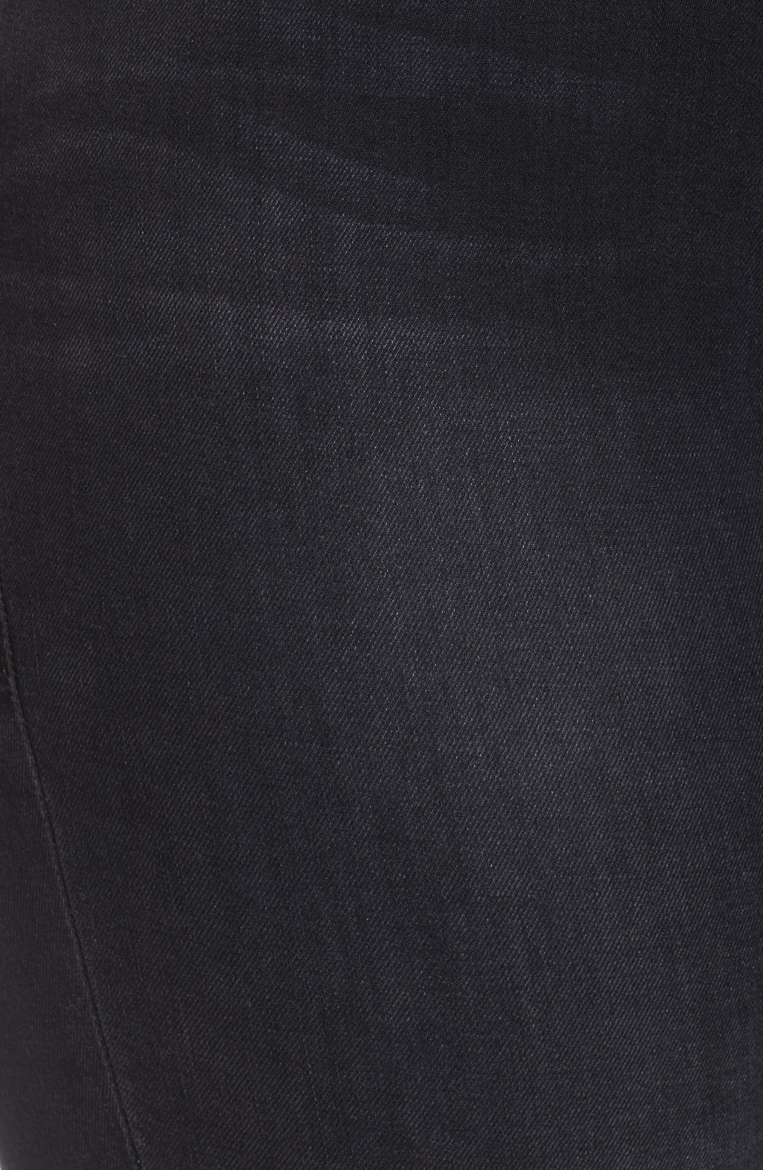 Alternate Image 4  - Good American Good Straight Ankle Lace Skinny Jeans (Black 010) (Extended Sizes)