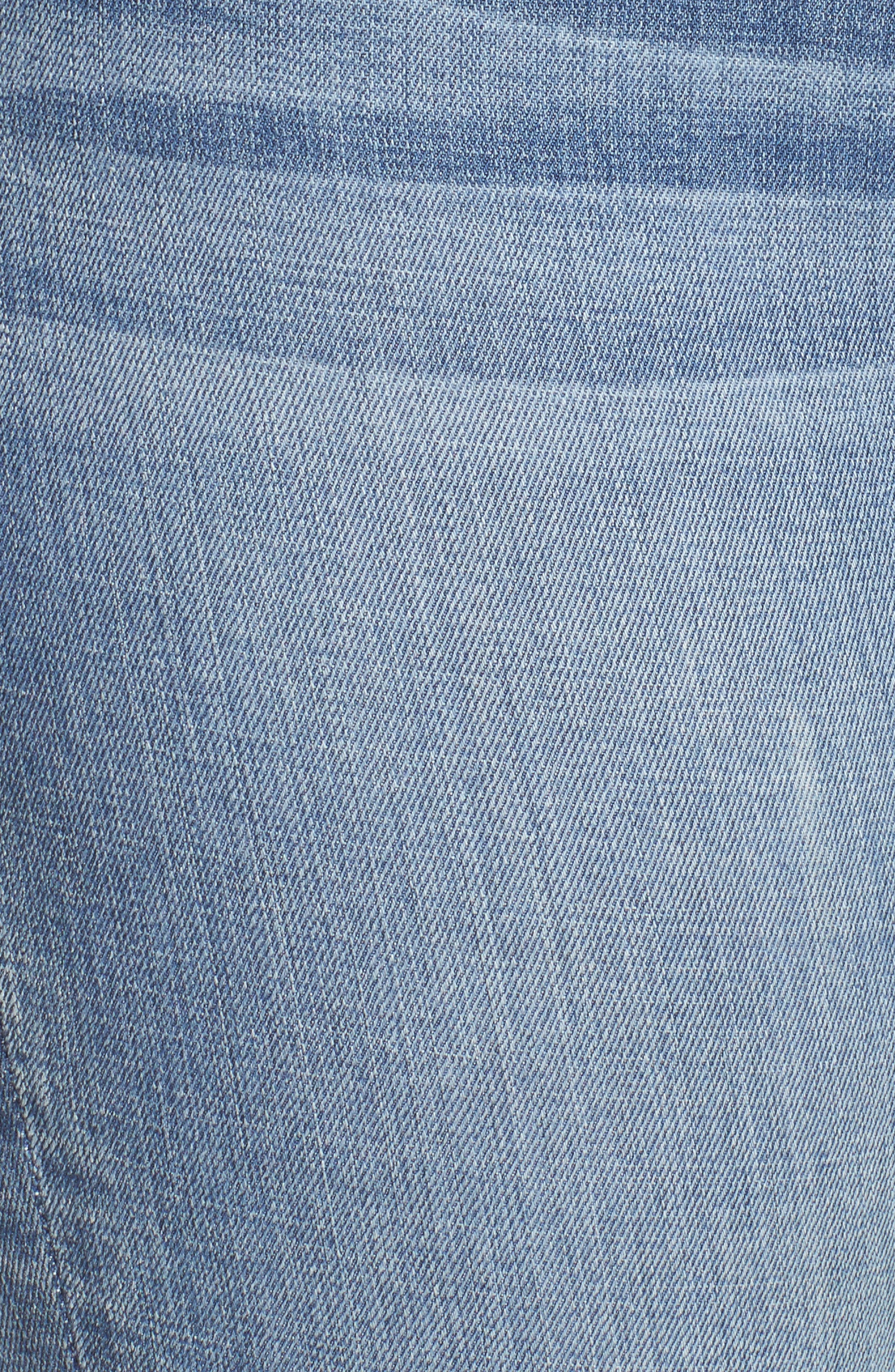 Alternate Image 13  - Good American Good Straight High Rise Jeans (Blue 087) (Regular & Plus Size)