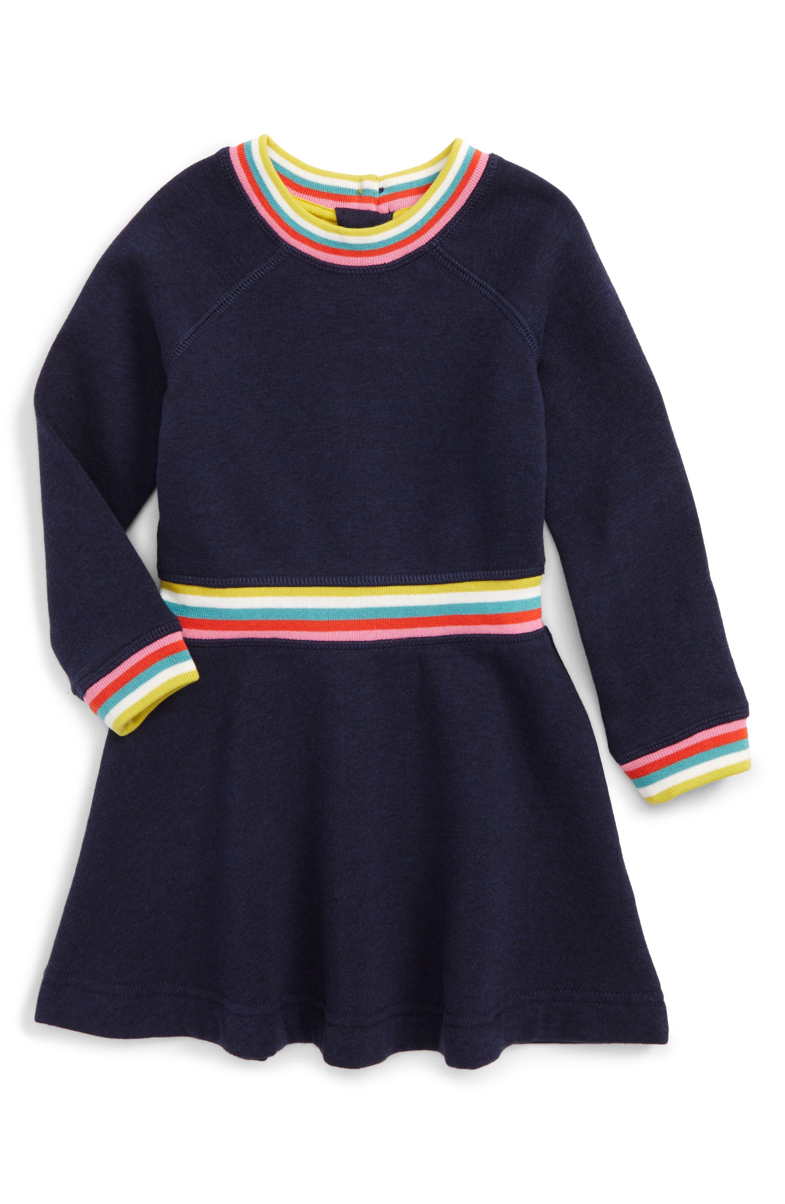 Mini Boden Cosy Sweatshirt Dress (Toddler Girls, Little Girls & Big Girls)