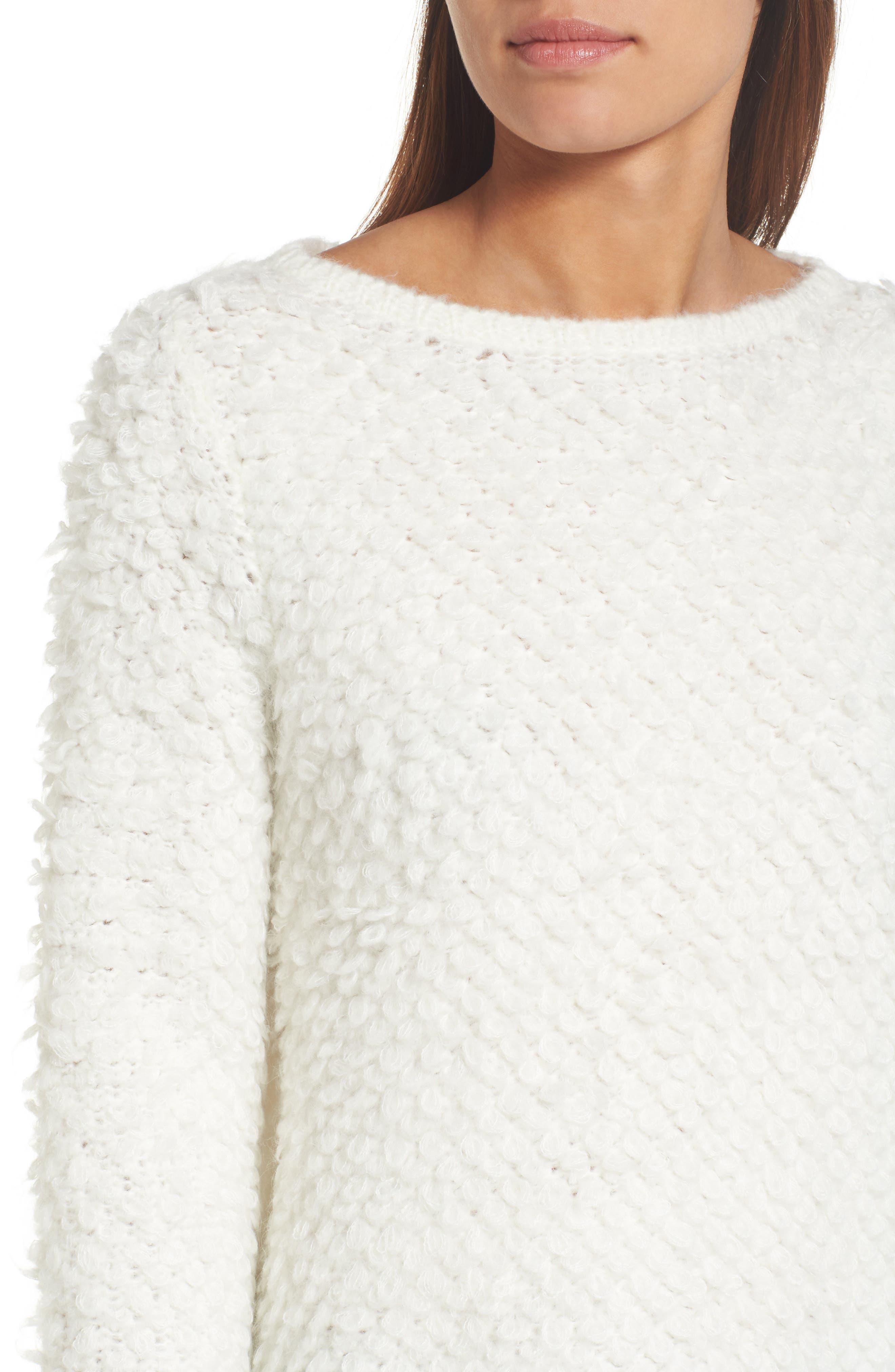 Alternate Image 4  - Caslon® Loop Stitch Crewneck Sweater