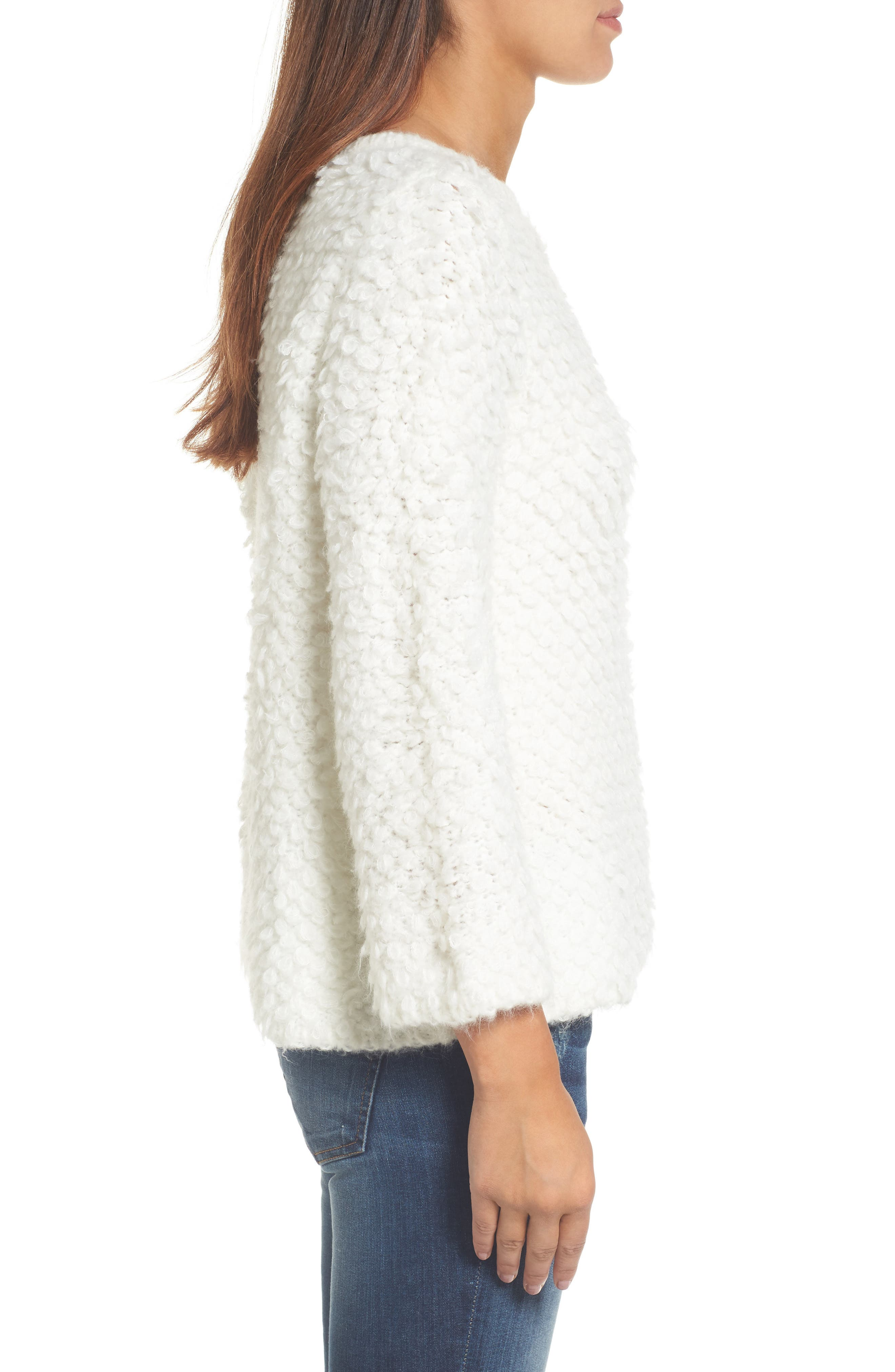 Alternate Image 3  - Caslon® Loop Stitch Crewneck Sweater