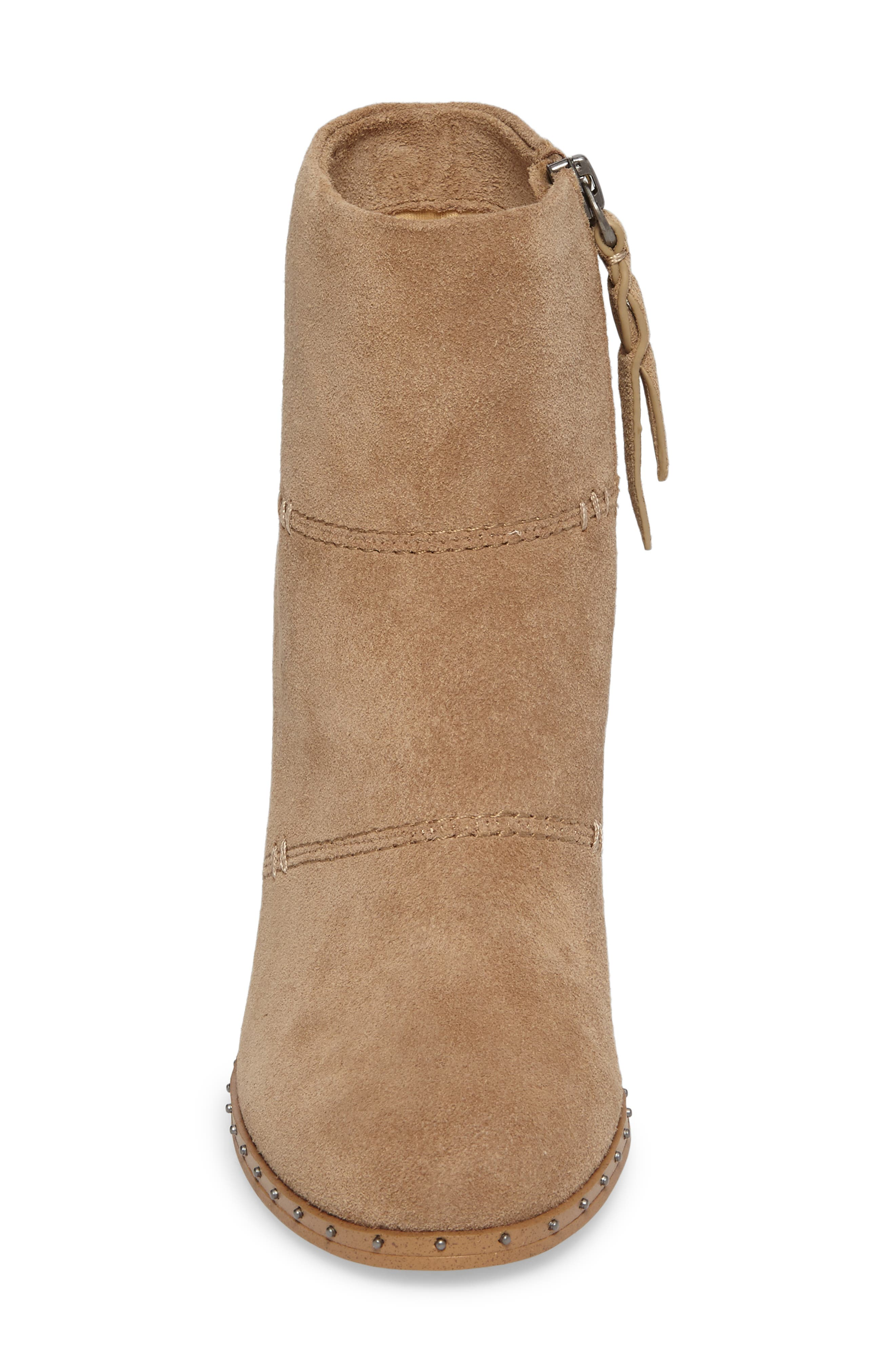 Rita Bootie,                             Alternate thumbnail 4, color,                             Light Taupe Suede