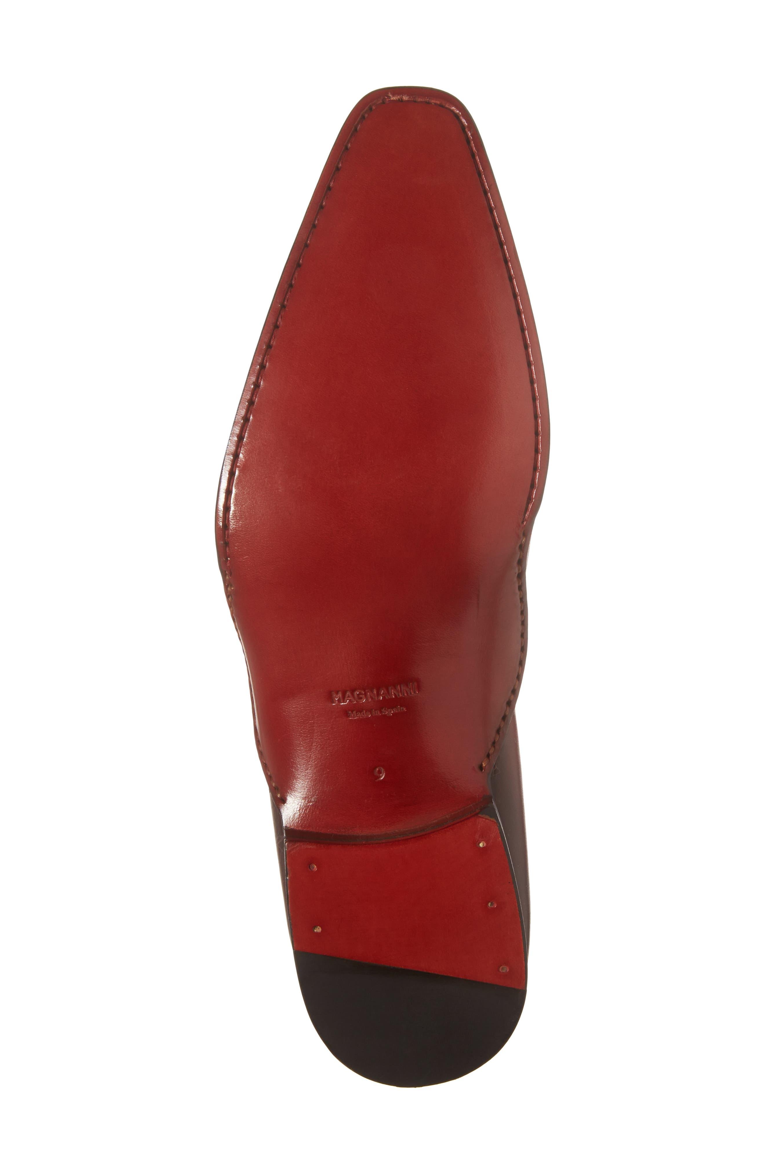 Josue Wholecut Oxford,                             Alternate thumbnail 6, color,                             Red Leather