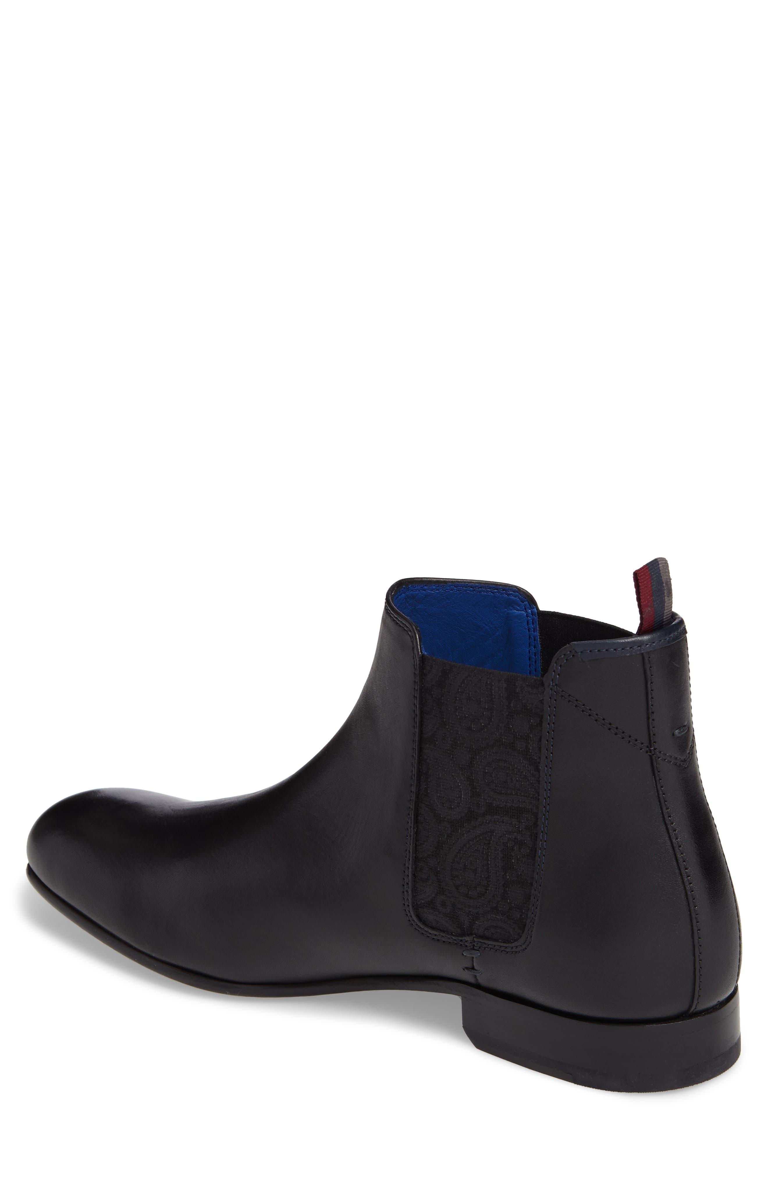 Kayto Chelsea Boot,                             Alternate thumbnail 2, color,                             Black Leather