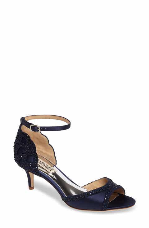 Womens blue wedding shoes nordstrom badgley mischka gillian crystal embellished dorsay sandal junglespirit Gallery