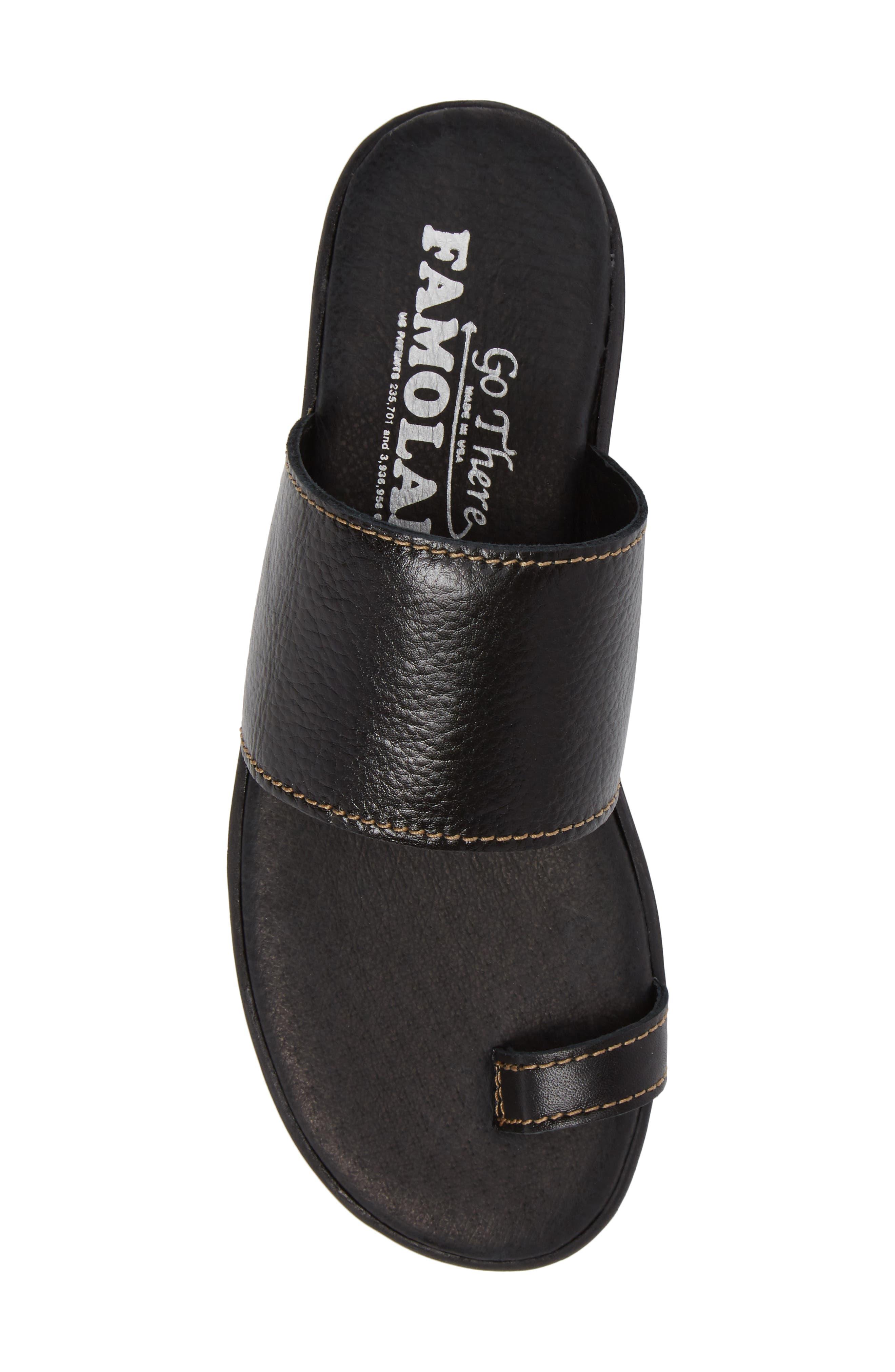 Band & Deliver Toe Loop Slide Sandal,                             Alternate thumbnail 5, color,                             Coal Leather