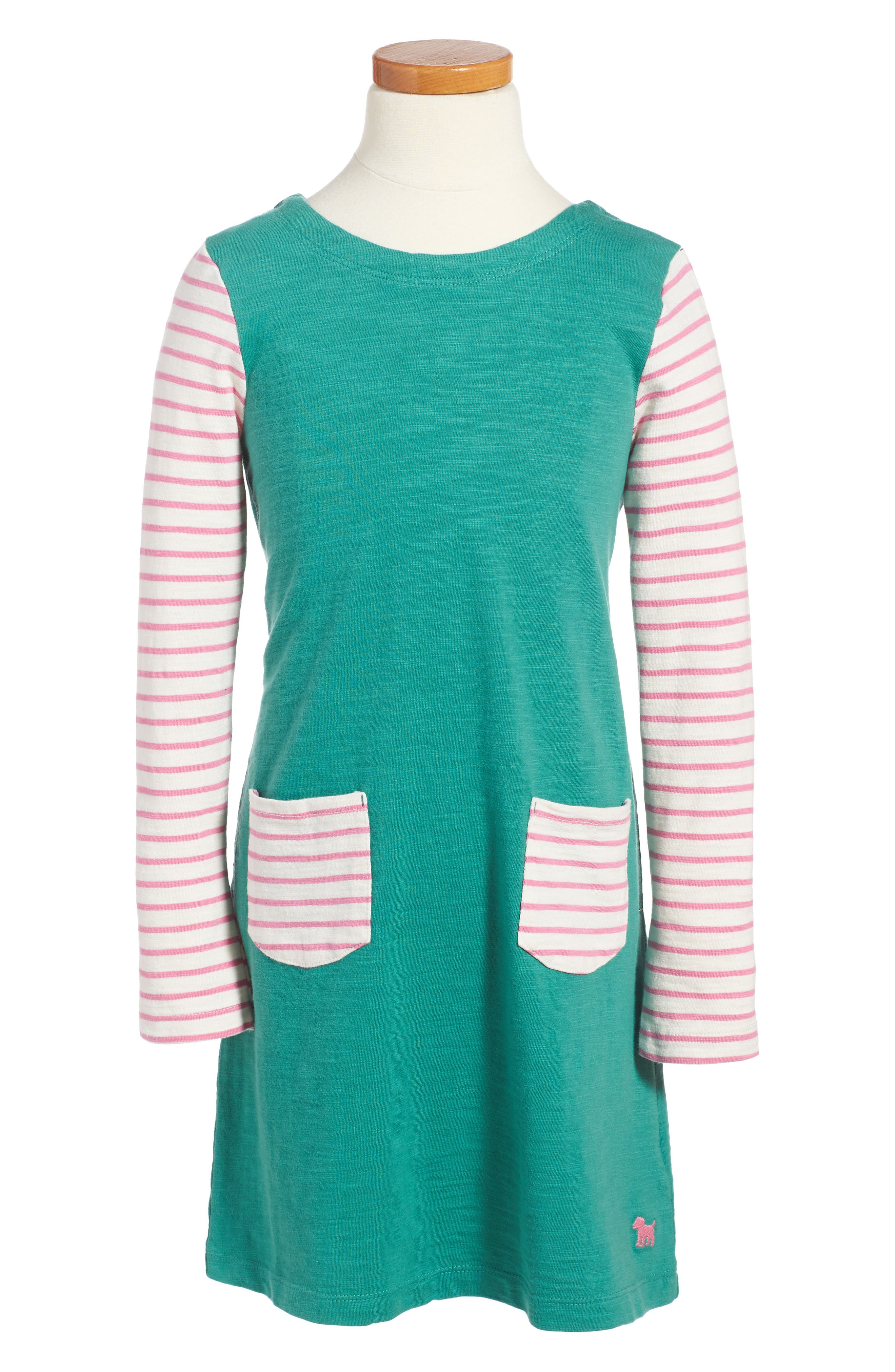 Stripy Jersey Dress,                         Main,                         color, Greenhouse