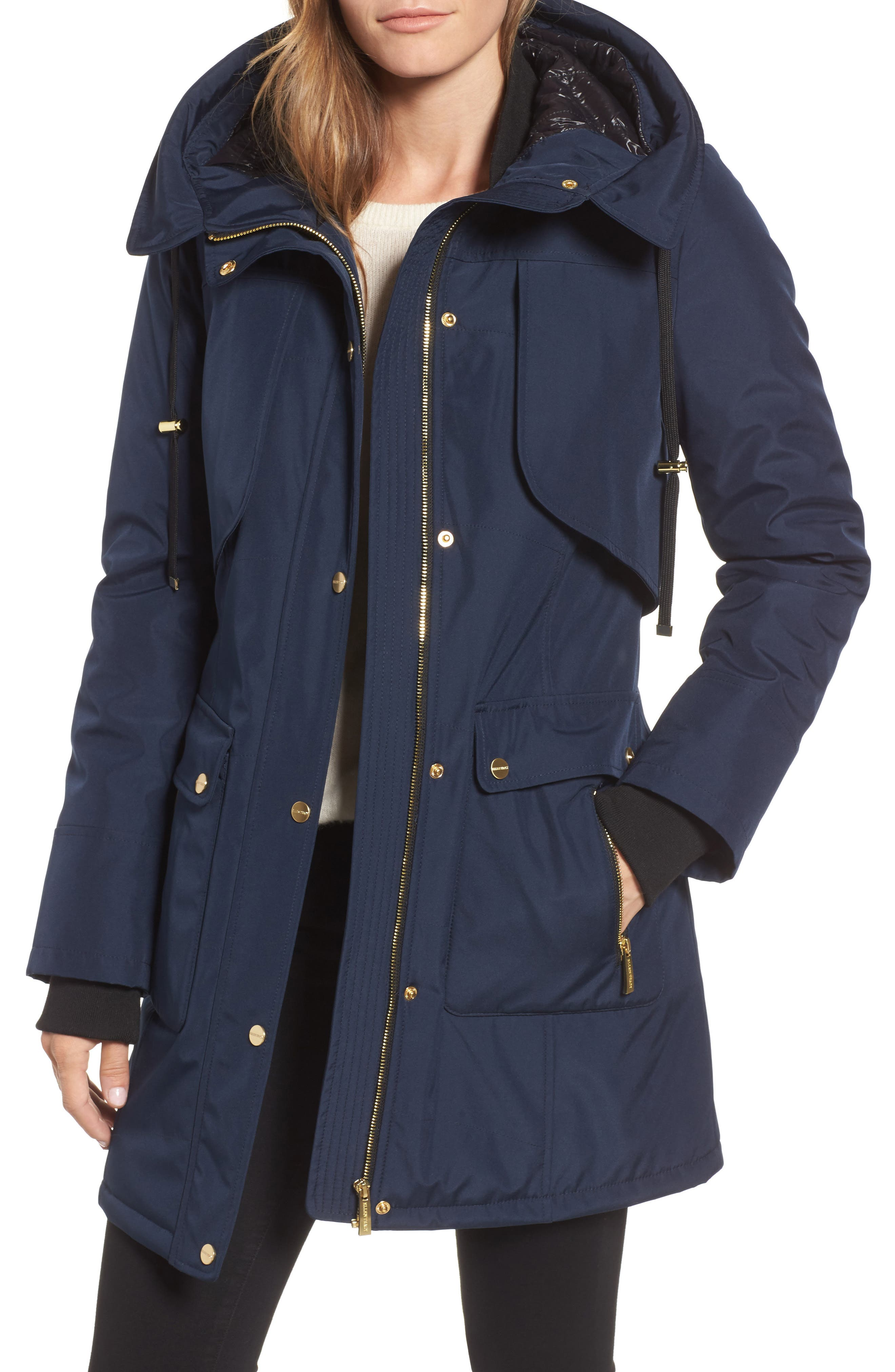 Ellen Tracy Quilted Techno Parka