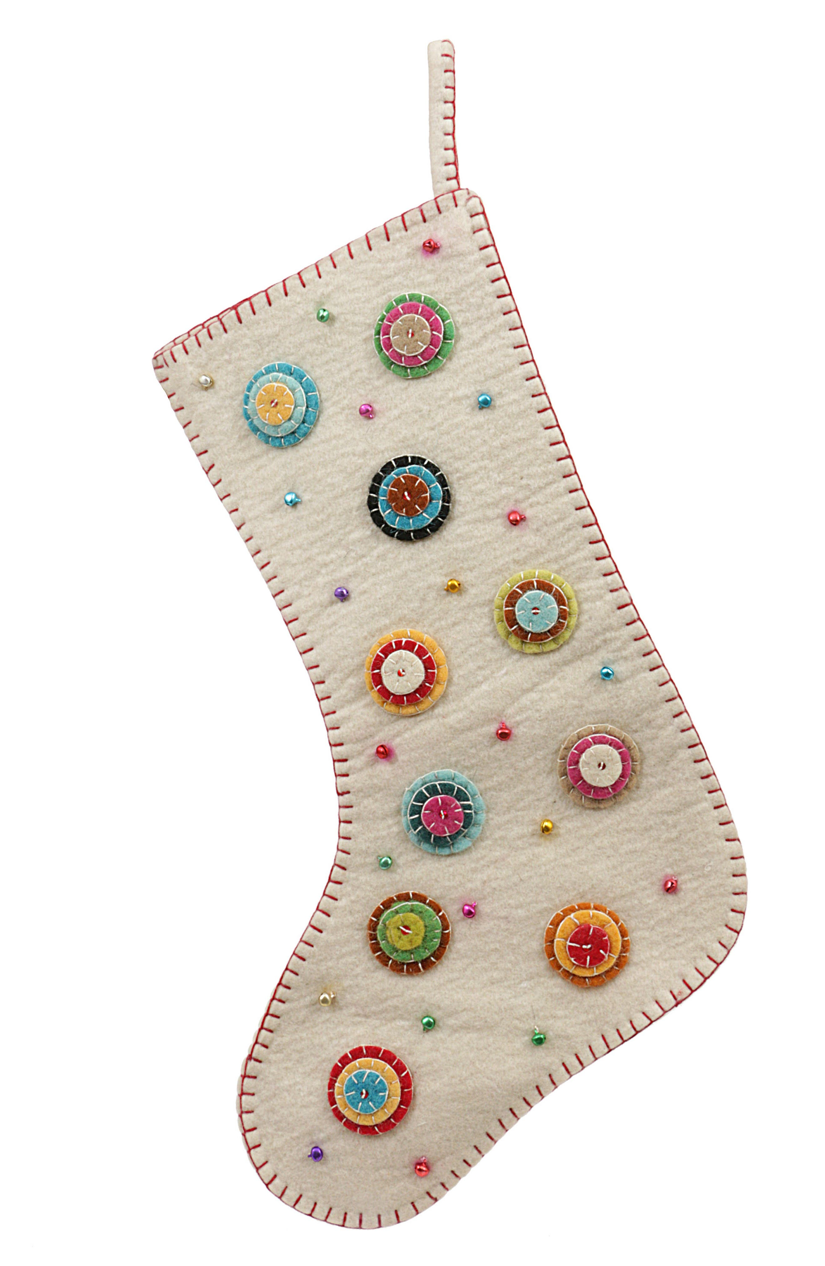 Wool Stocking,                         Main,                         color, White