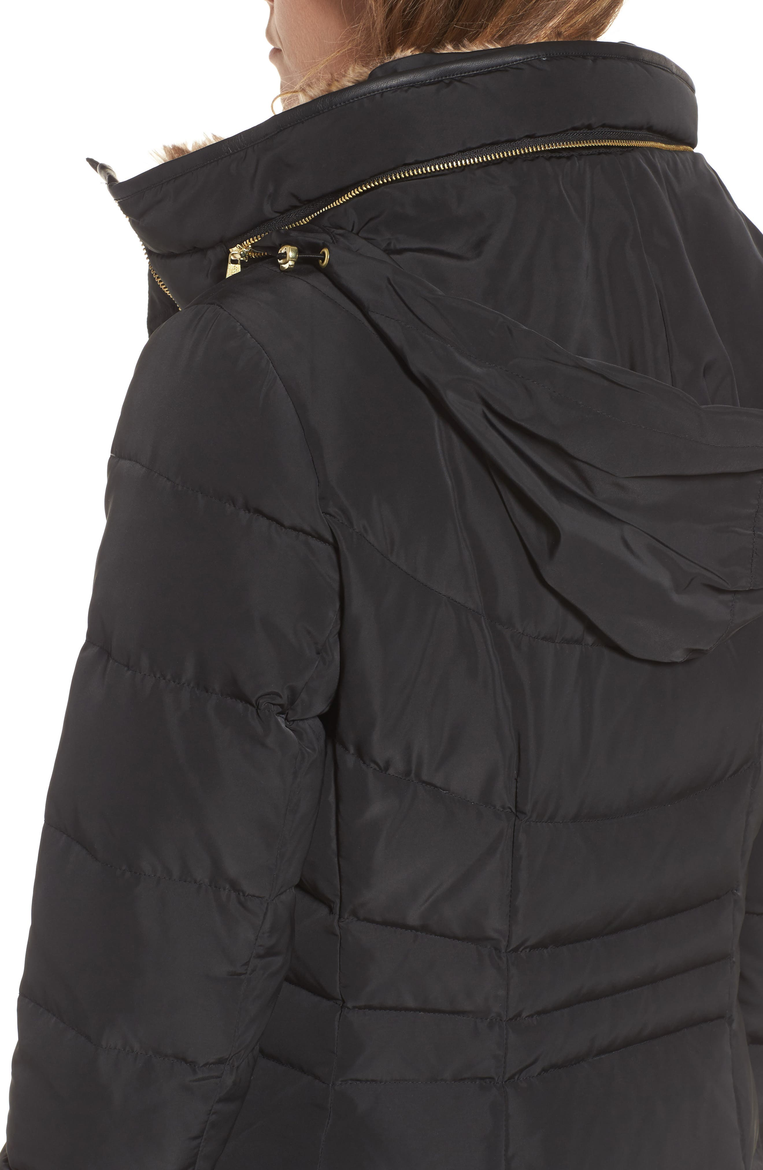 Alternate Image 4  - Cole Haan Quilted Down & Feather Fill Jacket with Faux Fur Trim