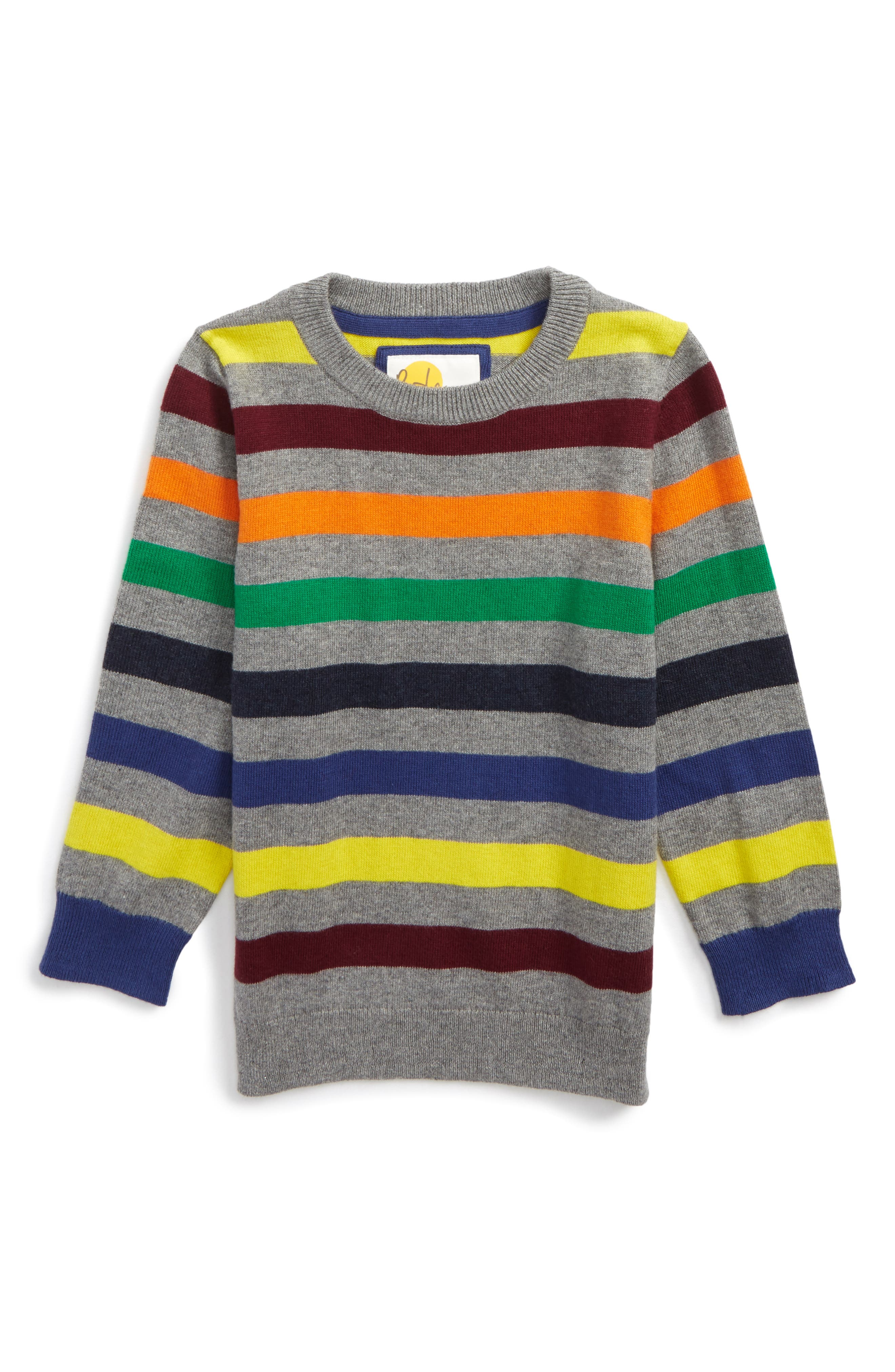 Stripe Sweater,                         Main,                         color, Grey Marl Multi
