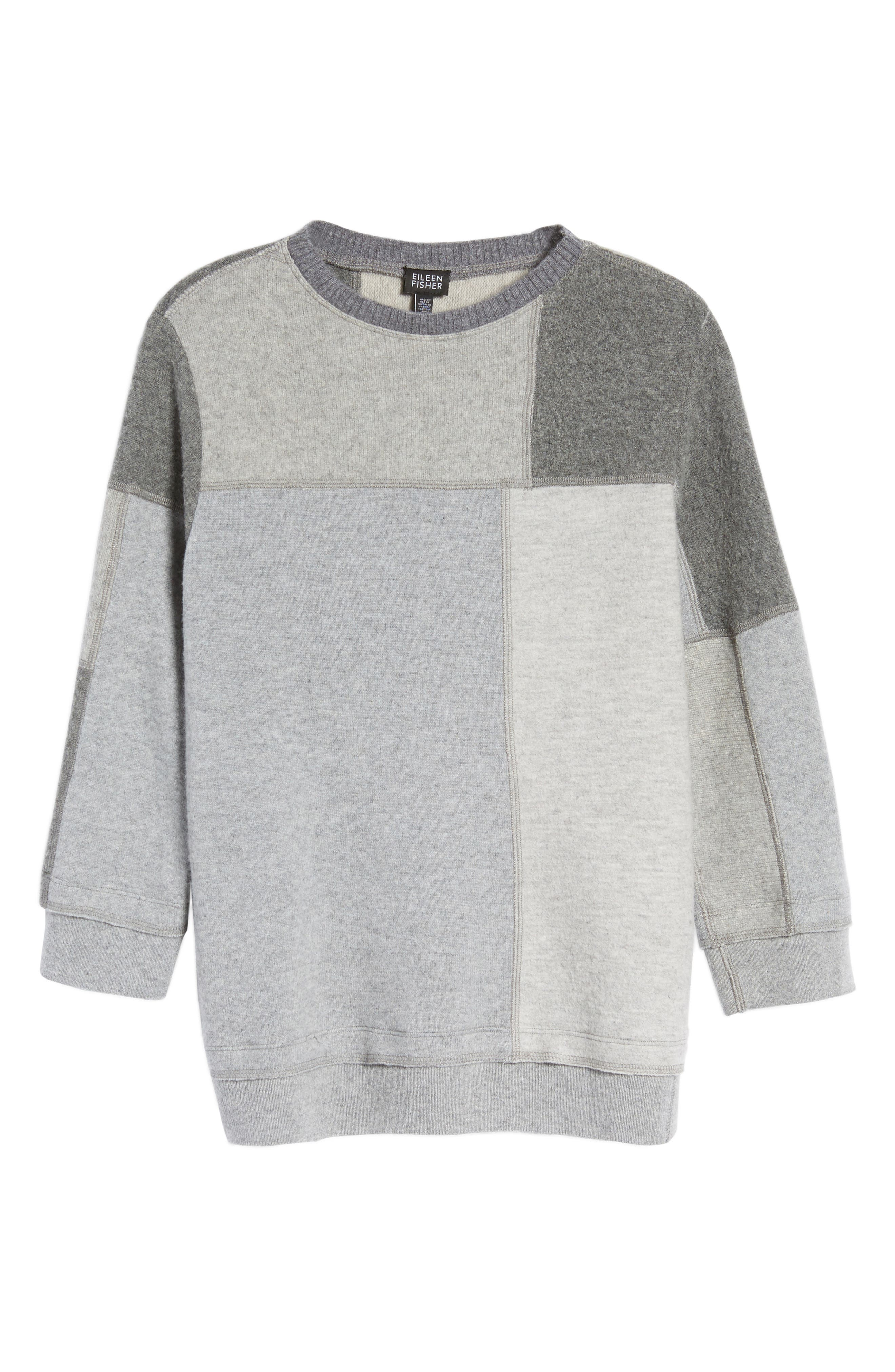 Colorblock Cashmere Sweater,                             Alternate thumbnail 6, color,                             Grey