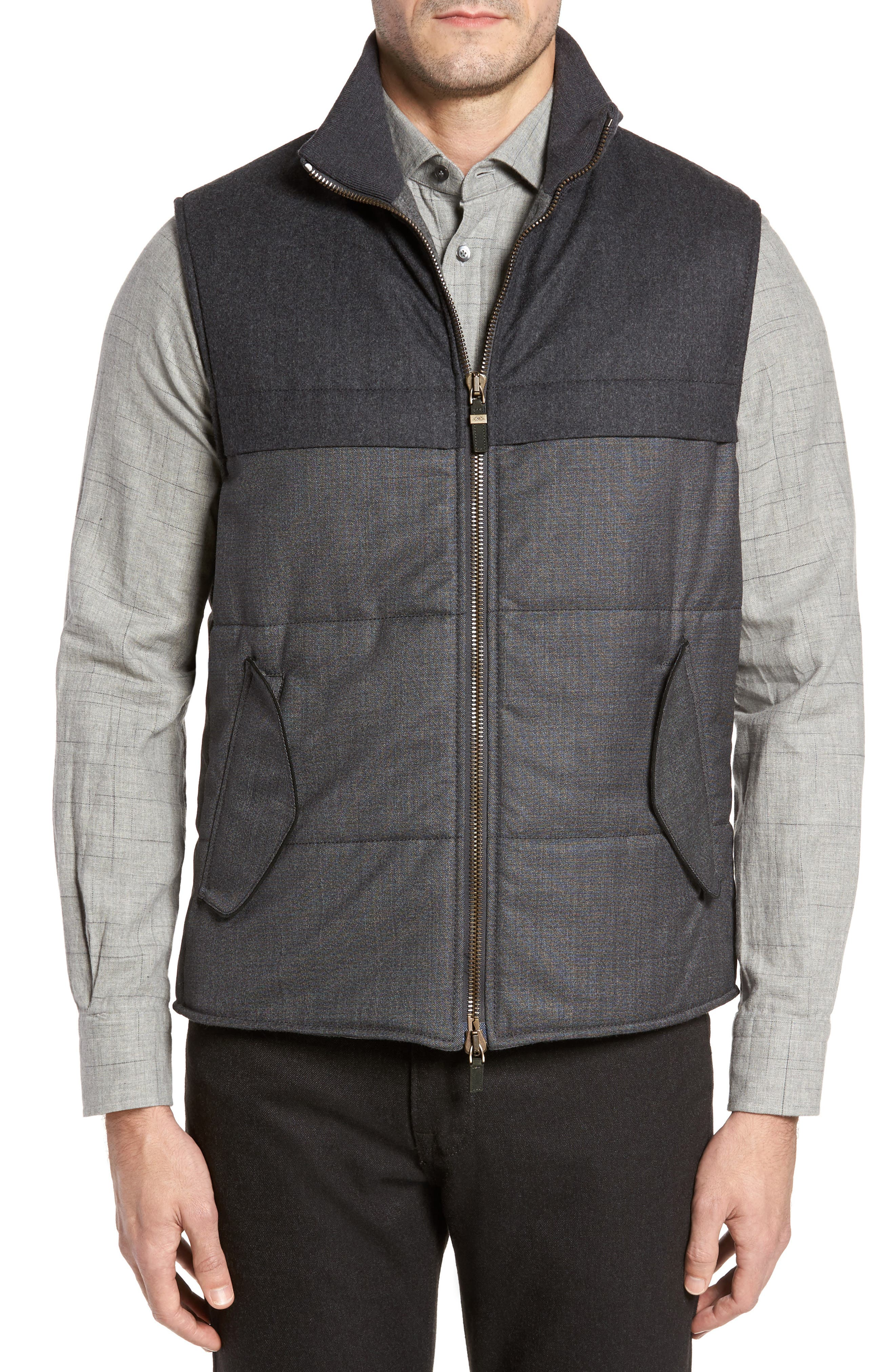 Luciano Barbera Wool Blend Tech Vest