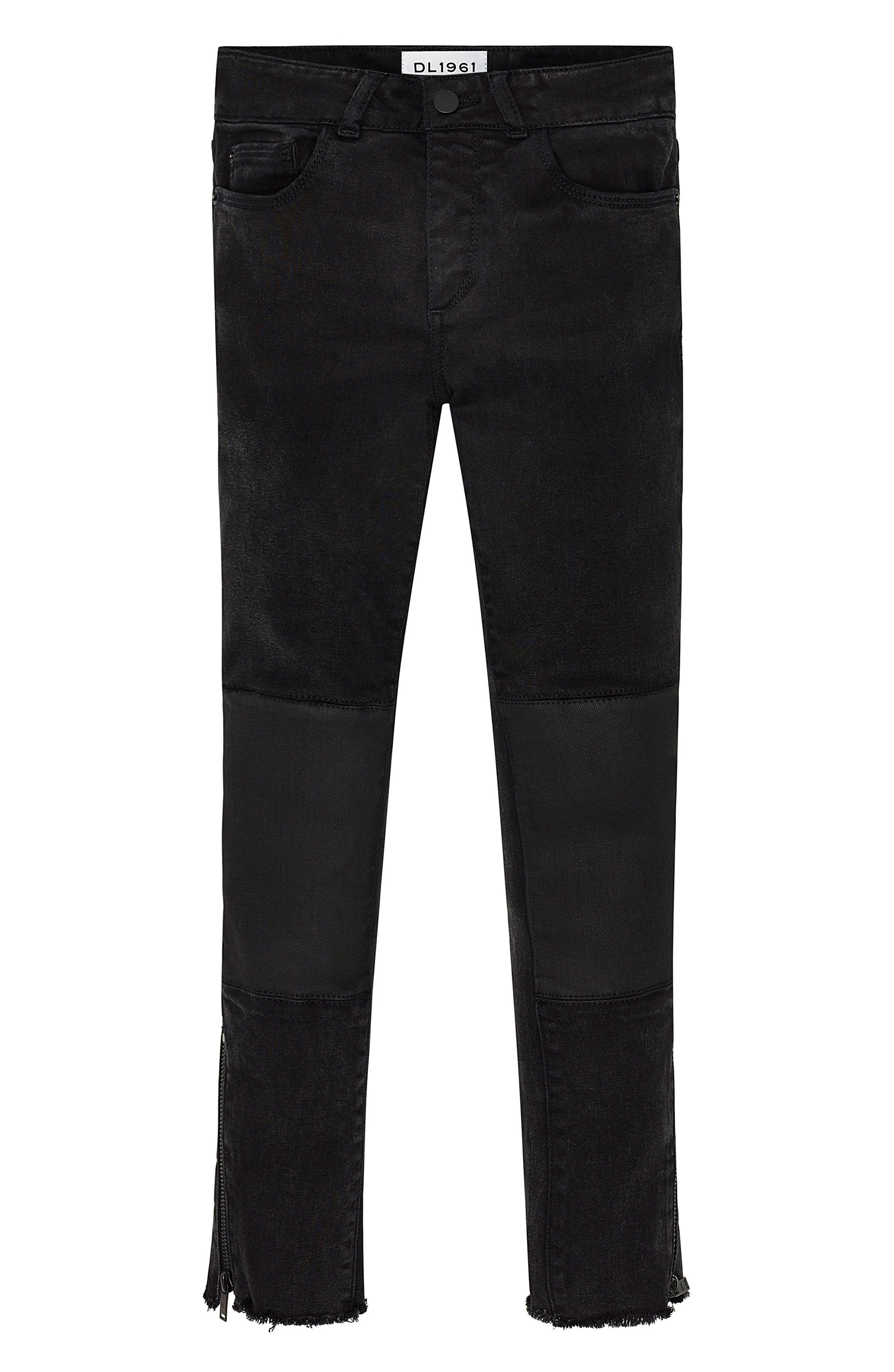 Alternate Image 1 Selected - DL1961 Chloe Moto Skinny Jeans (Big Girls)